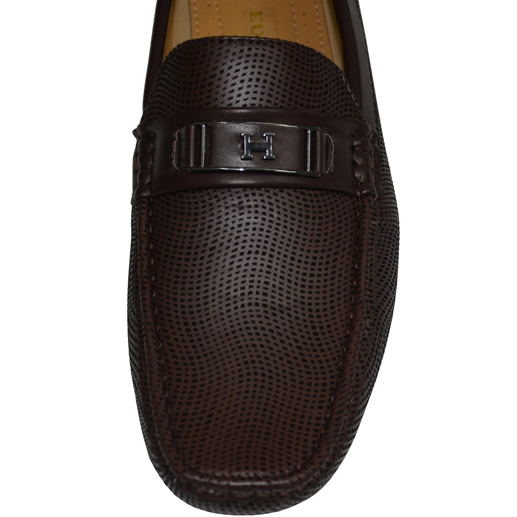 Mens-Slip-Ons-Shoes-Boat-Deck-Driving-Smart-Buckle-Moccasins-Suede-Look-Loafers thumbnail 20