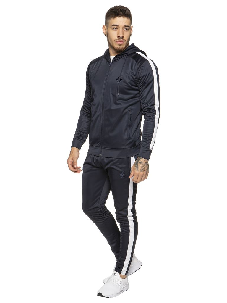 New-Enzo-Mens-Full-Tracksuit-Set-Slim-Fit-Zip-Up-Sweat-Hoodie-Jogging-Bottoms thumbnail 20