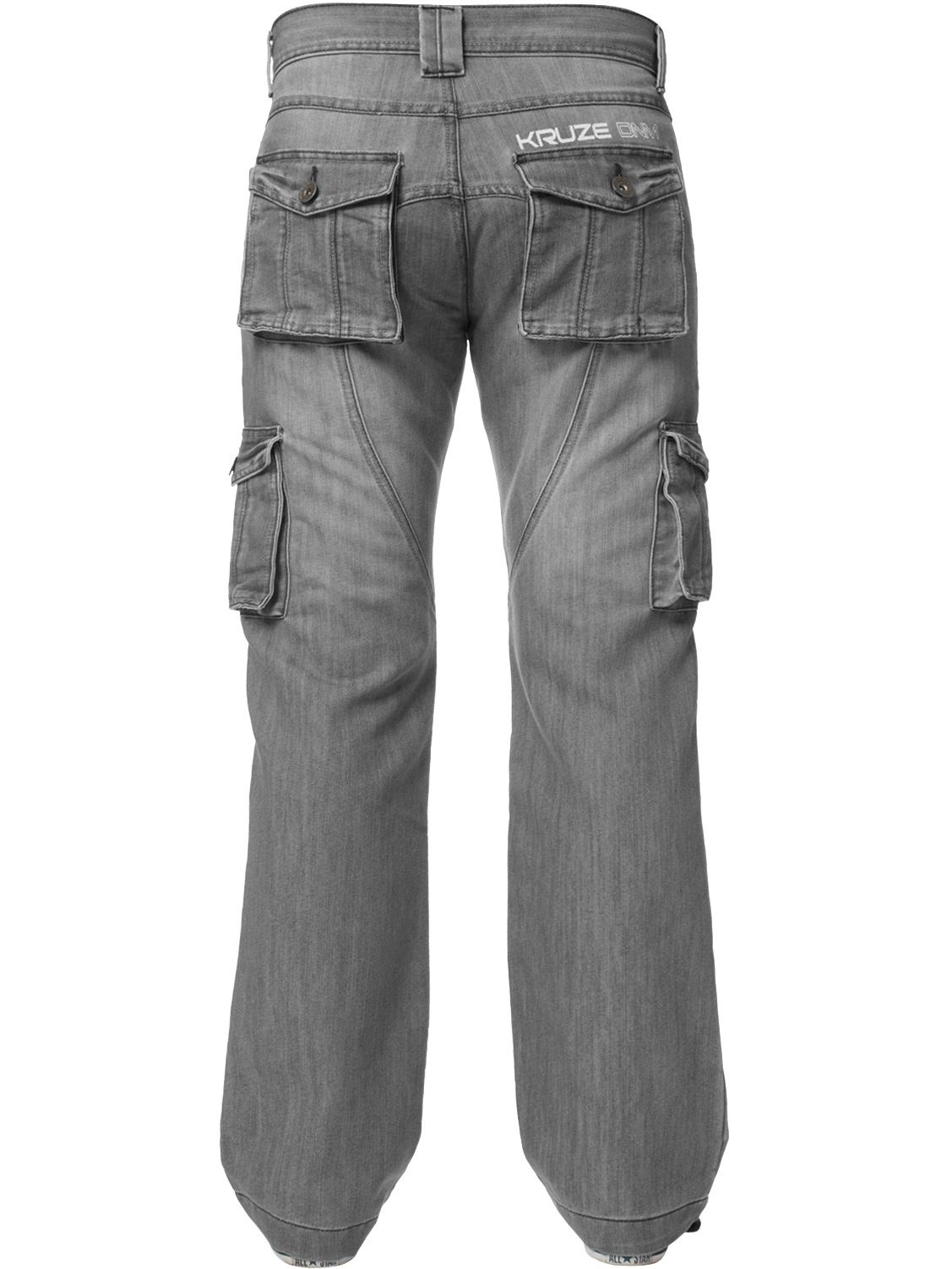 Kruze-Mens-Cargo-Combat-Jeans-Casual-Work-Denim-Pants-Big-Tall-All-Waist-Sizes thumbnail 32