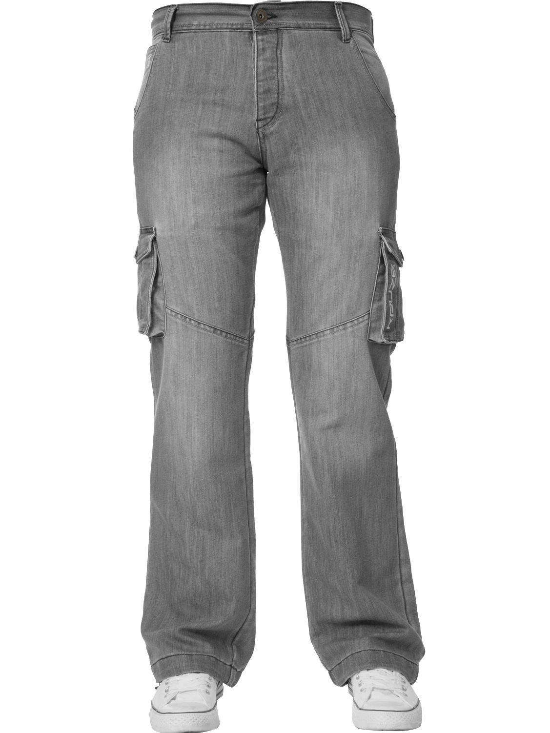 Kruze-Mens-Cargo-Combat-Jeans-Casual-Work-Denim-Pants-Big-Tall-All-Waist-Sizes thumbnail 36