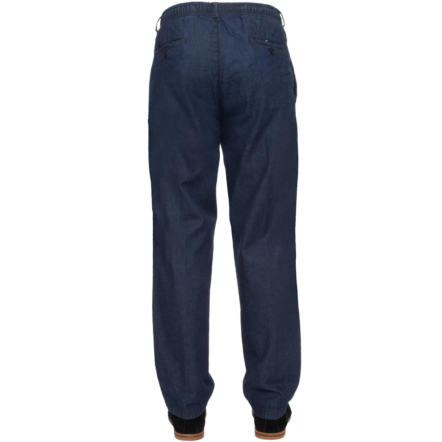 Para-Hombres-Pantalones-De-Rugby-Kruze-cintura-elastica-con-cordon-pantalones-REGULAR-King-Tamanos miniatura 19