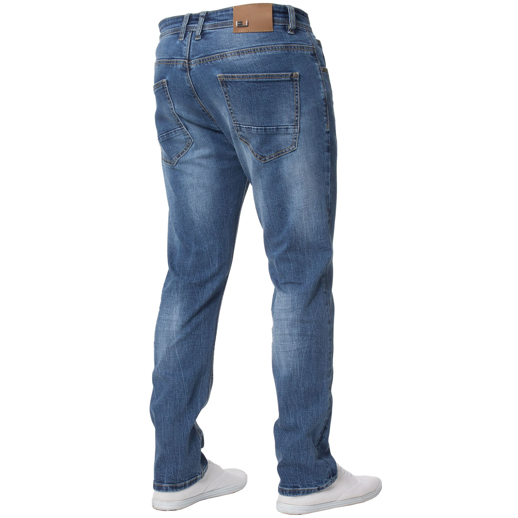 Eto-Designer-Mens-Tapered-Jeans-Slim-Fit-Stretch-Denim-Trouser-Pants-All-Waists thumbnail 4