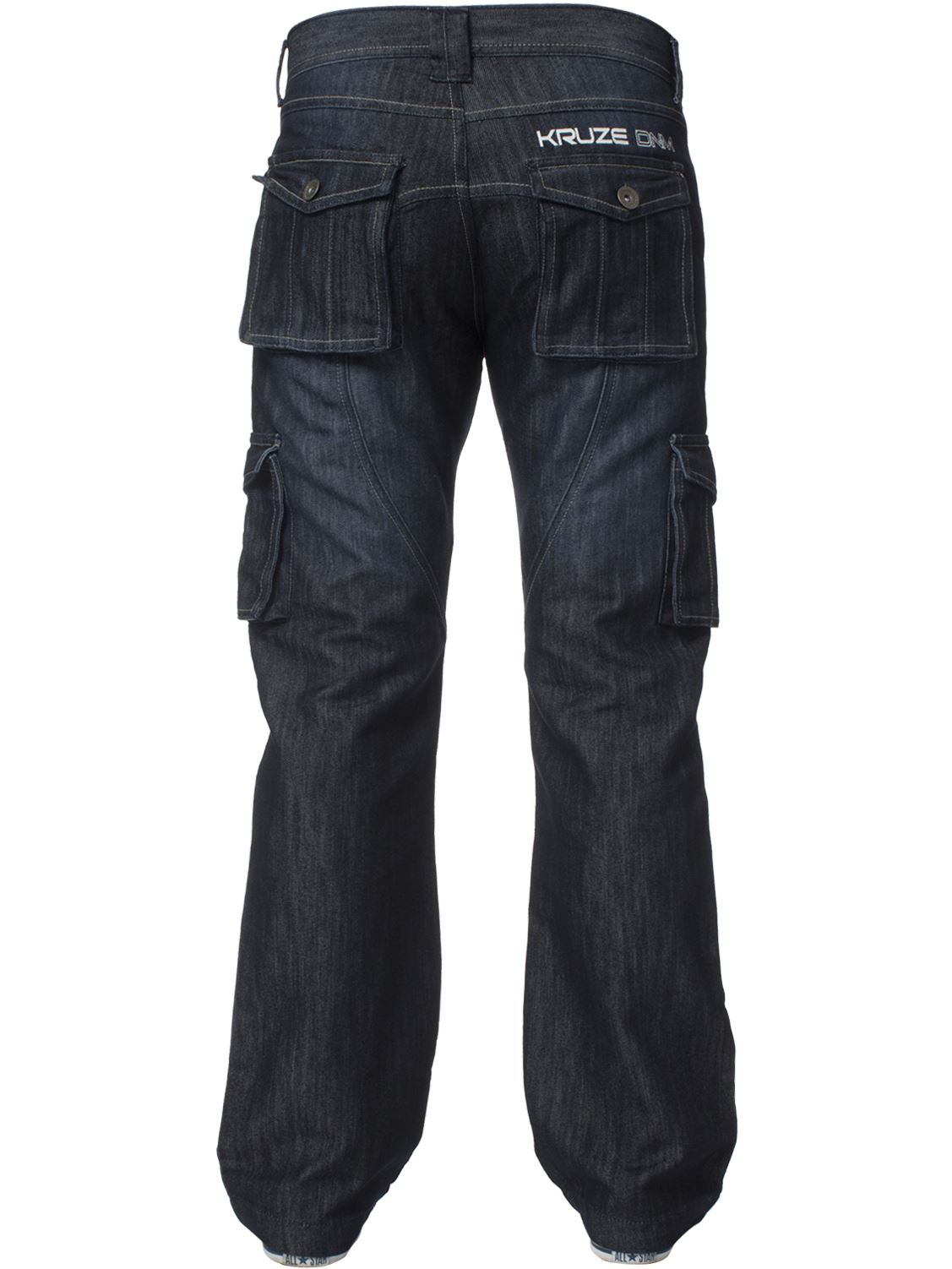 KRUZE-Mens-Combat-Jeans-Casual-Cargo-Work-Pants-Denim-Trousers-All-Waist-Sizes thumbnail 20
