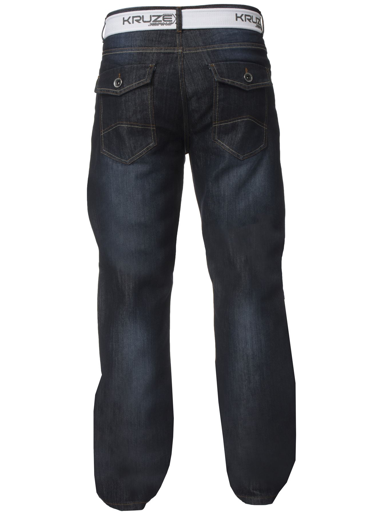 Kruze-Denim-New-Mens-Bootcut-Jeans-Wide-Leg-Flare-Pants-King-Big-All-Waist-Sizes thumbnail 13