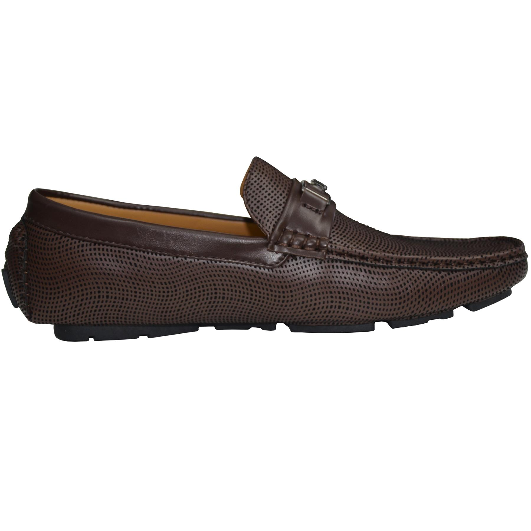 Mens-Slip-Ons-Shoes-Boat-Deck-Driving-Smart-Buckle-Moccasins-Suede-Look-Loafers thumbnail 17