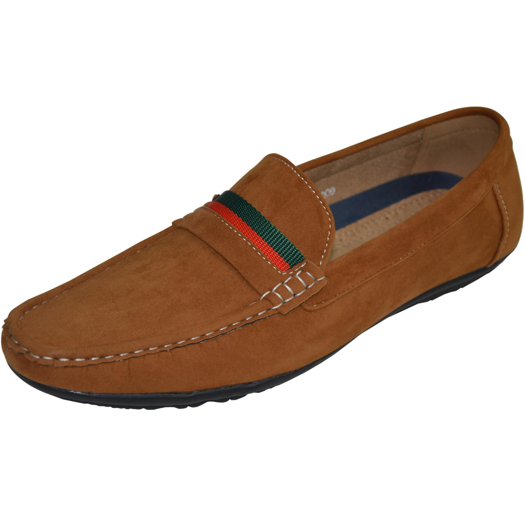 Mens-Slip-Ons-Shoes-Boat-Deck-Driving-Smart-Buckle-Moccasins-Suede-Look-Loafers thumbnail 28