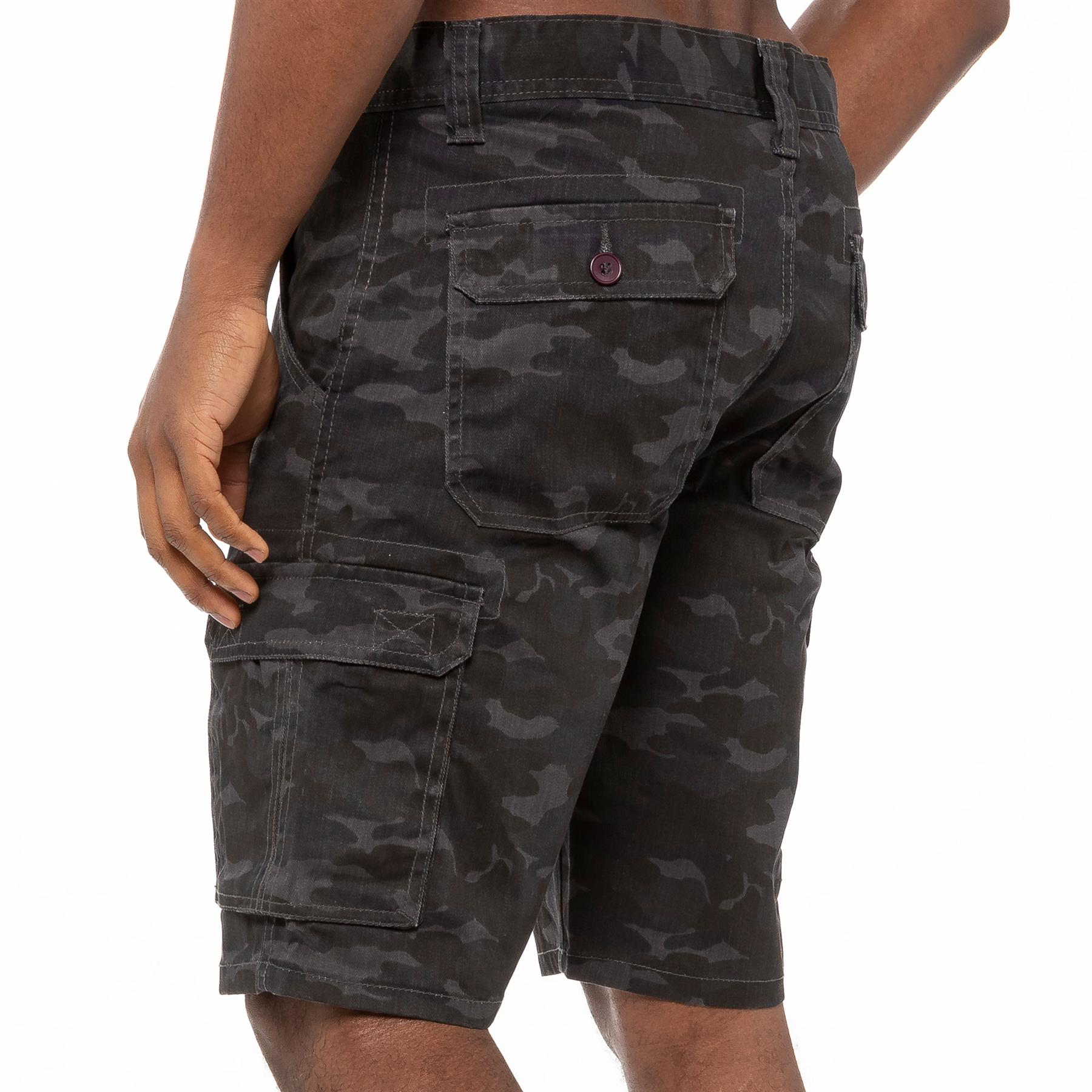 thumbnail 17 - Kruze Jeans Mens Army Combat Shorts Camouflage Cargo Casual Camo Work Half Pants