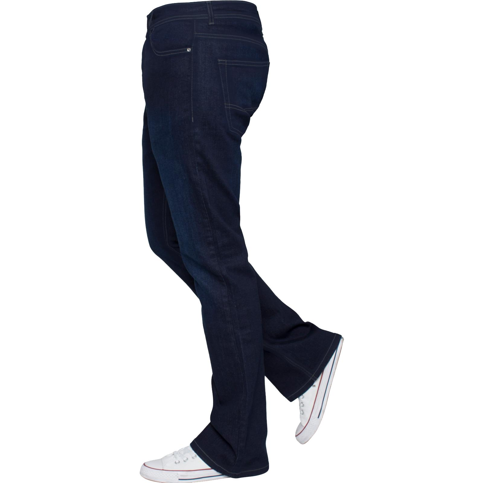 New-Enzo-Mens-Designer-Bootcut-Wide-Leg-Jeans-Flared-Stretch-Denim-All-Waists thumbnail 17