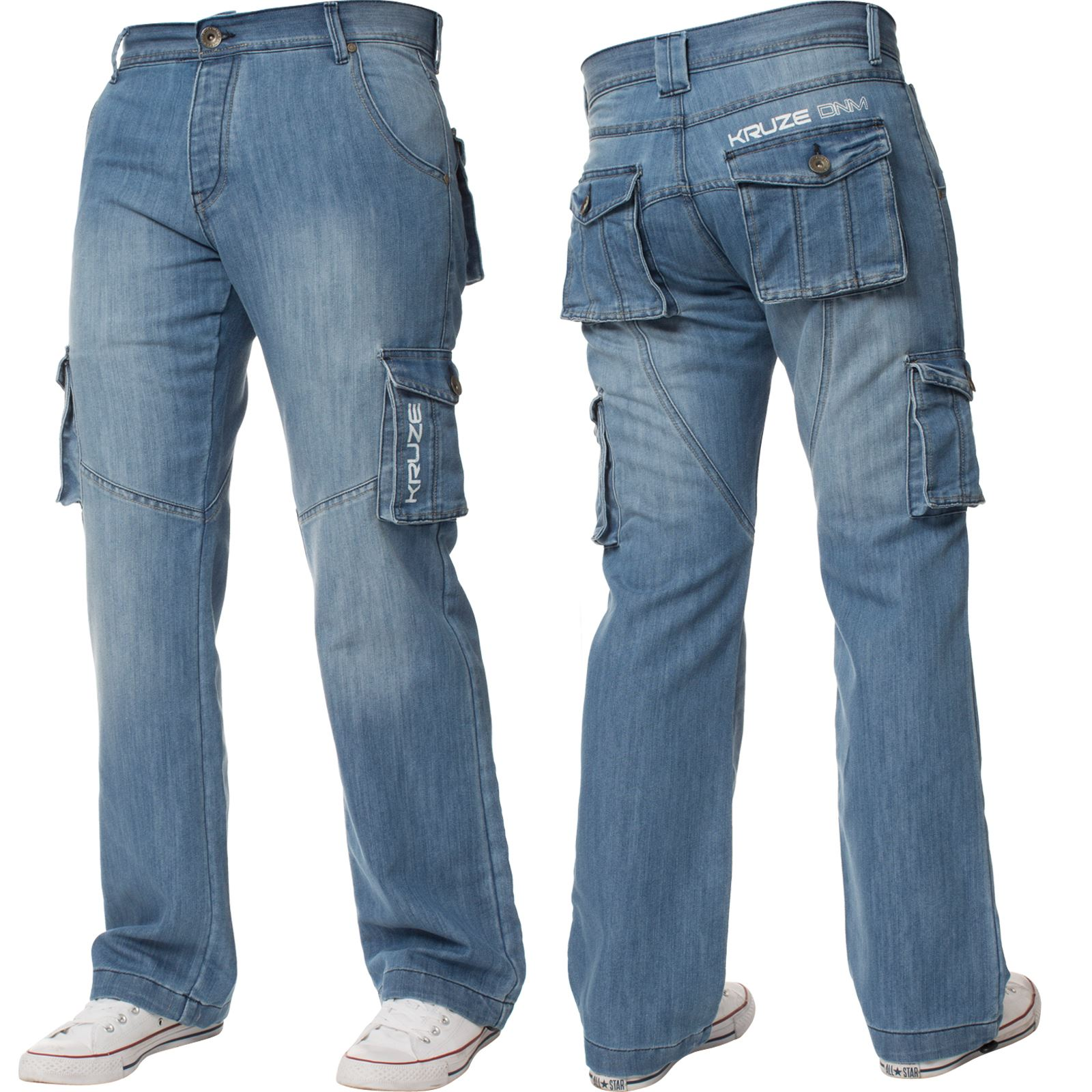 Mens-Cargo-Jeans-Combat-Trousers-Heavy-Duty-Work-Casual-Big-Tall-Denim-Pants thumbnail 75