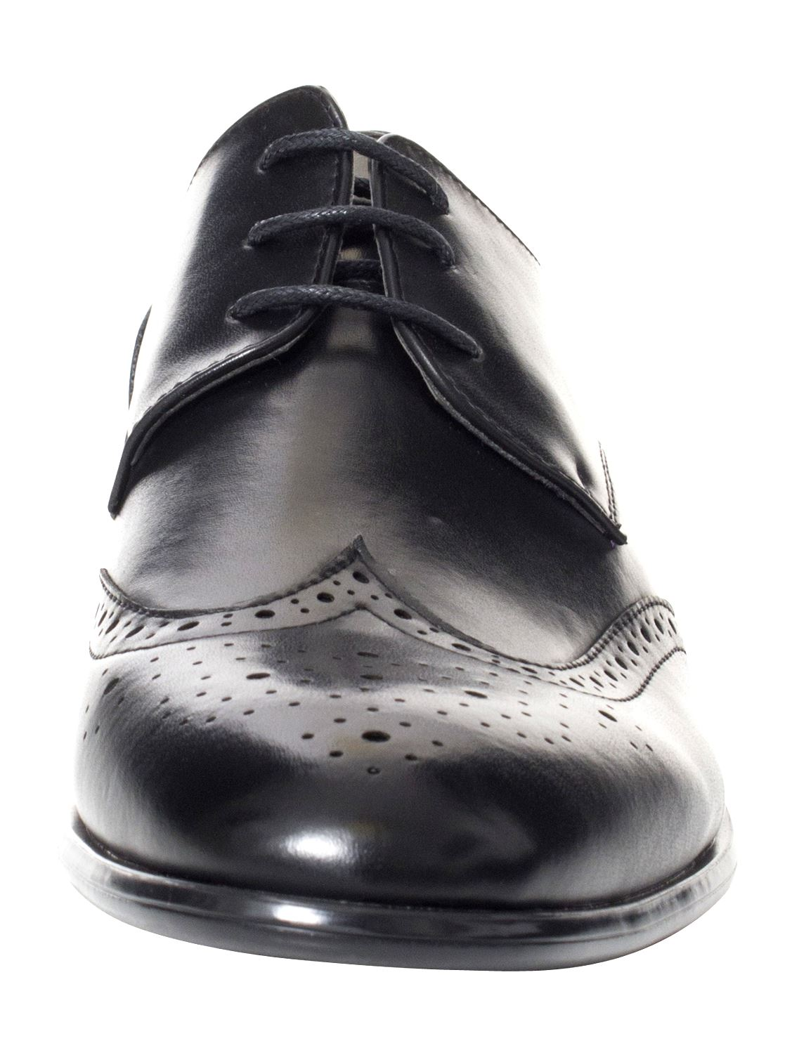 Mens-Faux-Leather-Shoes-Smart-Formal-Wedding-Office-Lace-Up-Designer-Brogues thumbnail 20