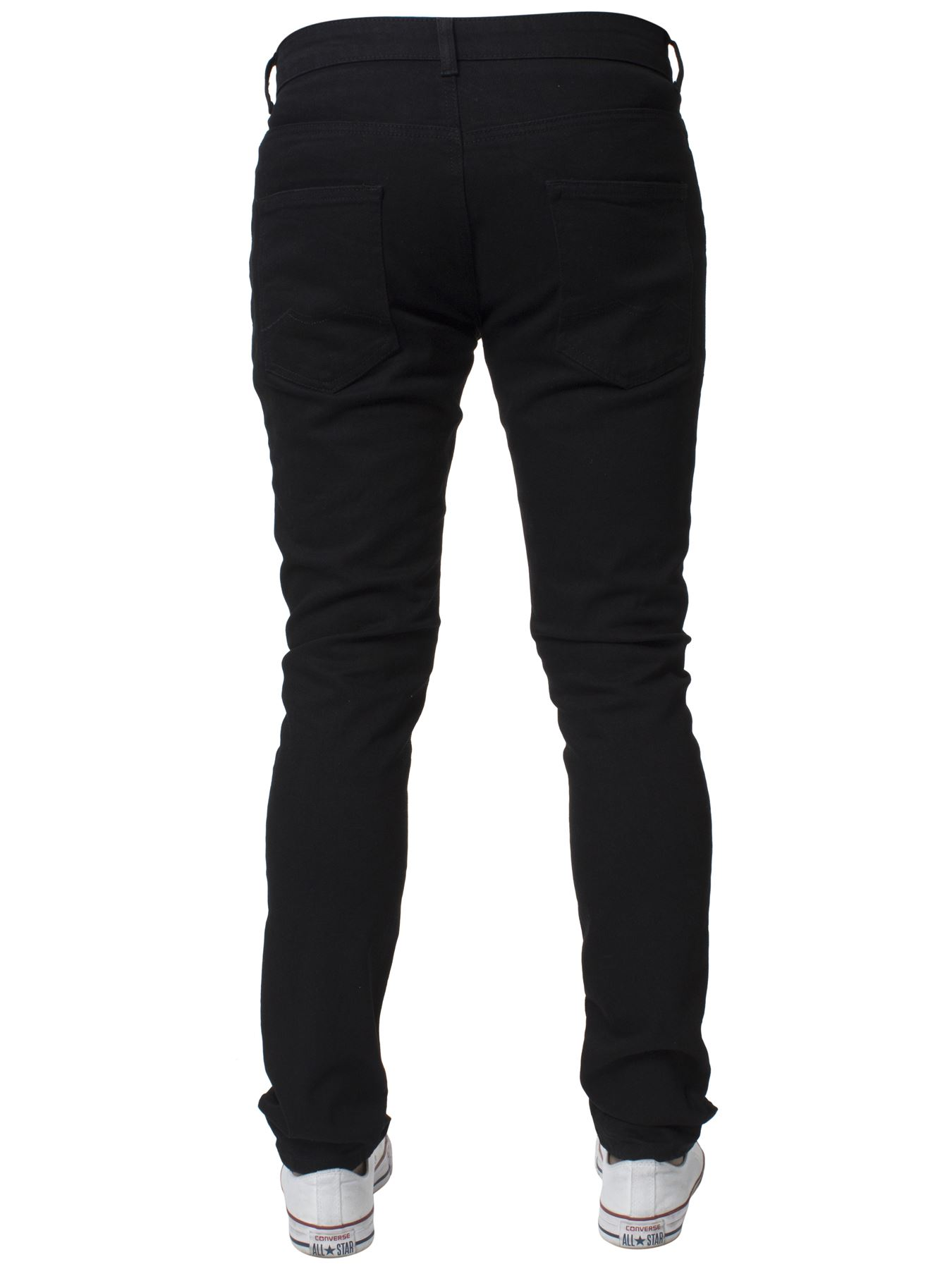 Mens-Skinny-Stretch-Jeans-Slim-Fit-Flex-Denim-Trousers-Pants-King-Sizes-by-Kruze thumbnail 6