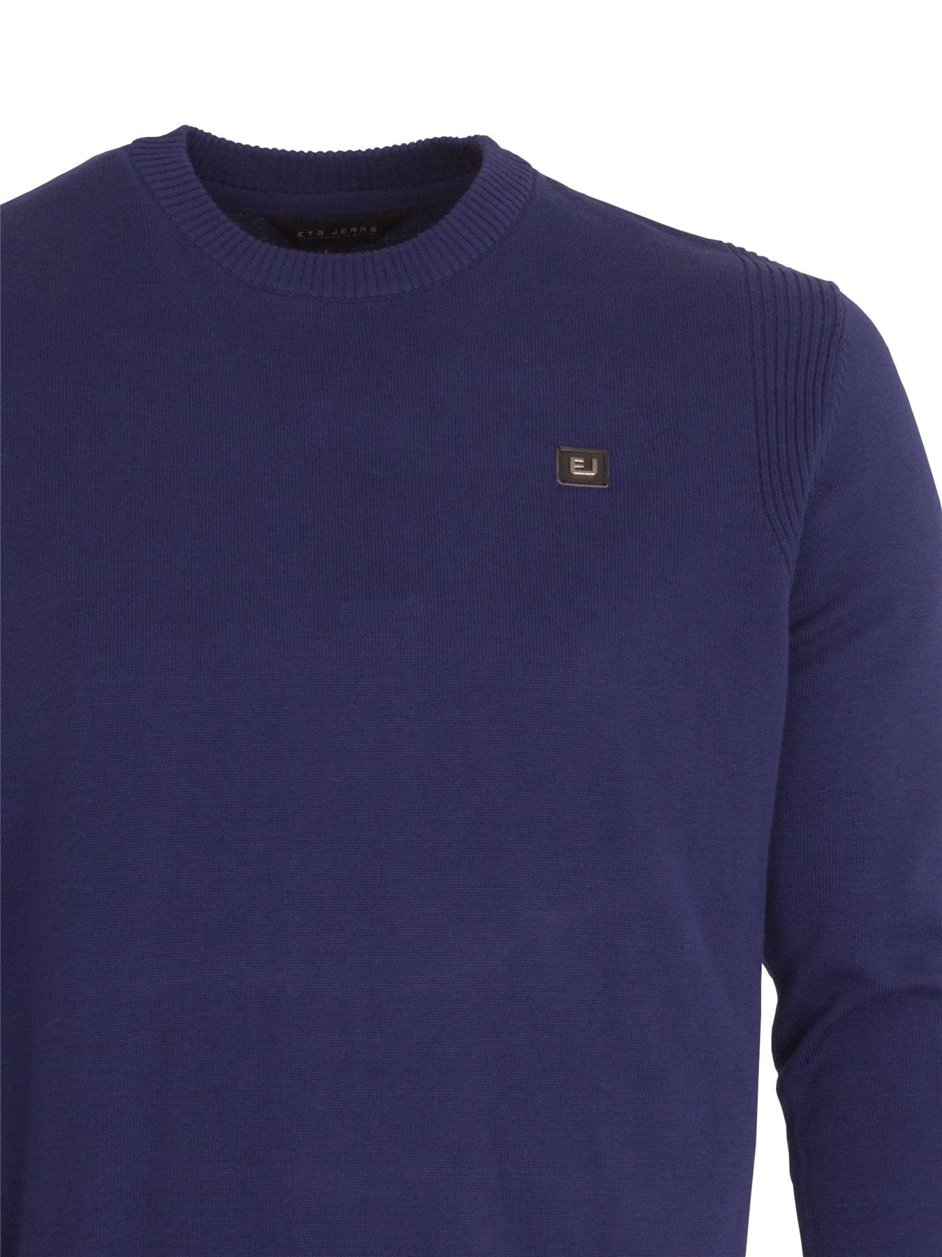 Eto-Para-Hombre-Disenador-Polo-Knitted-Jumper-cuello-redondo-generos-de-punto-manga-larga-Sueter miniatura 7