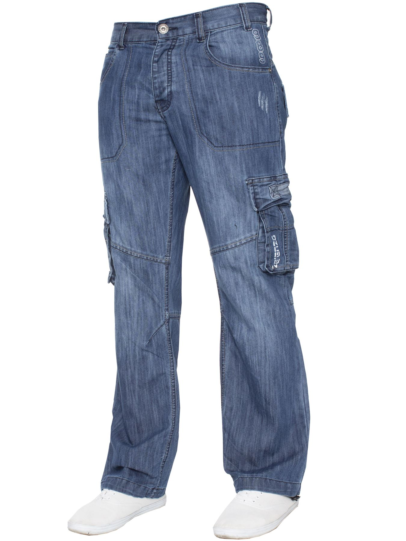 Jeans-Para-Hombre-de-carga-de-combate-pesado-Pantalones-de-trabajo-pantalones-de-mezclilla-Big-King miniatura 10