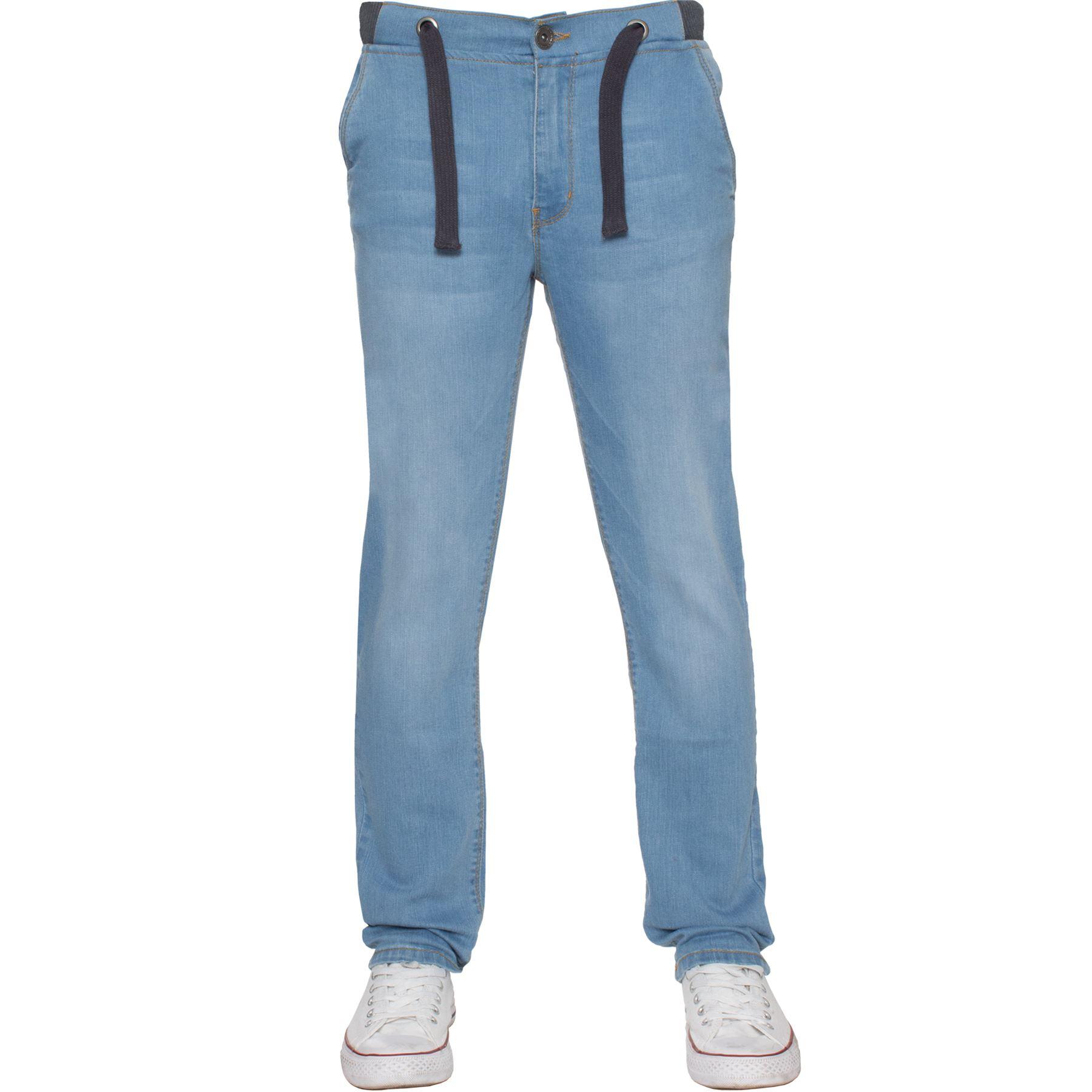 Jean-Garcon-Taille-Elastique-Enfants-Skinny-Stretch-School-Denim-Pantalon-Pantalon miniature 15