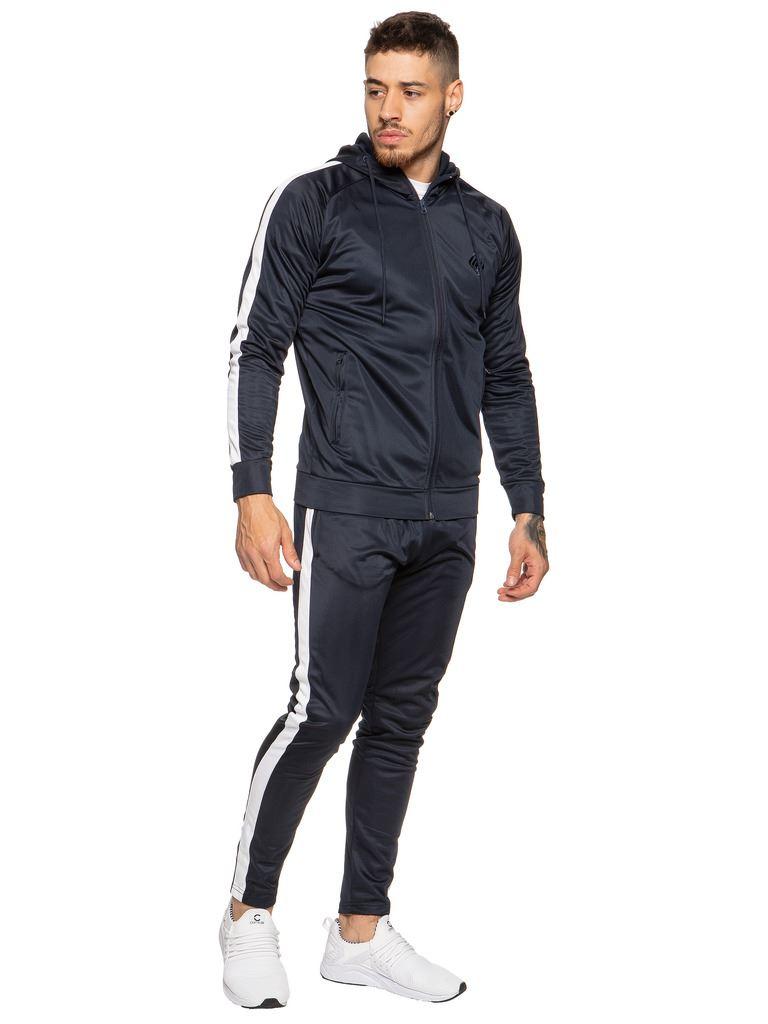 New-Enzo-Mens-Full-Tracksuit-Set-Slim-Fit-Zip-Up-Sweat-Hoodie-Jogging-Bottoms thumbnail 18