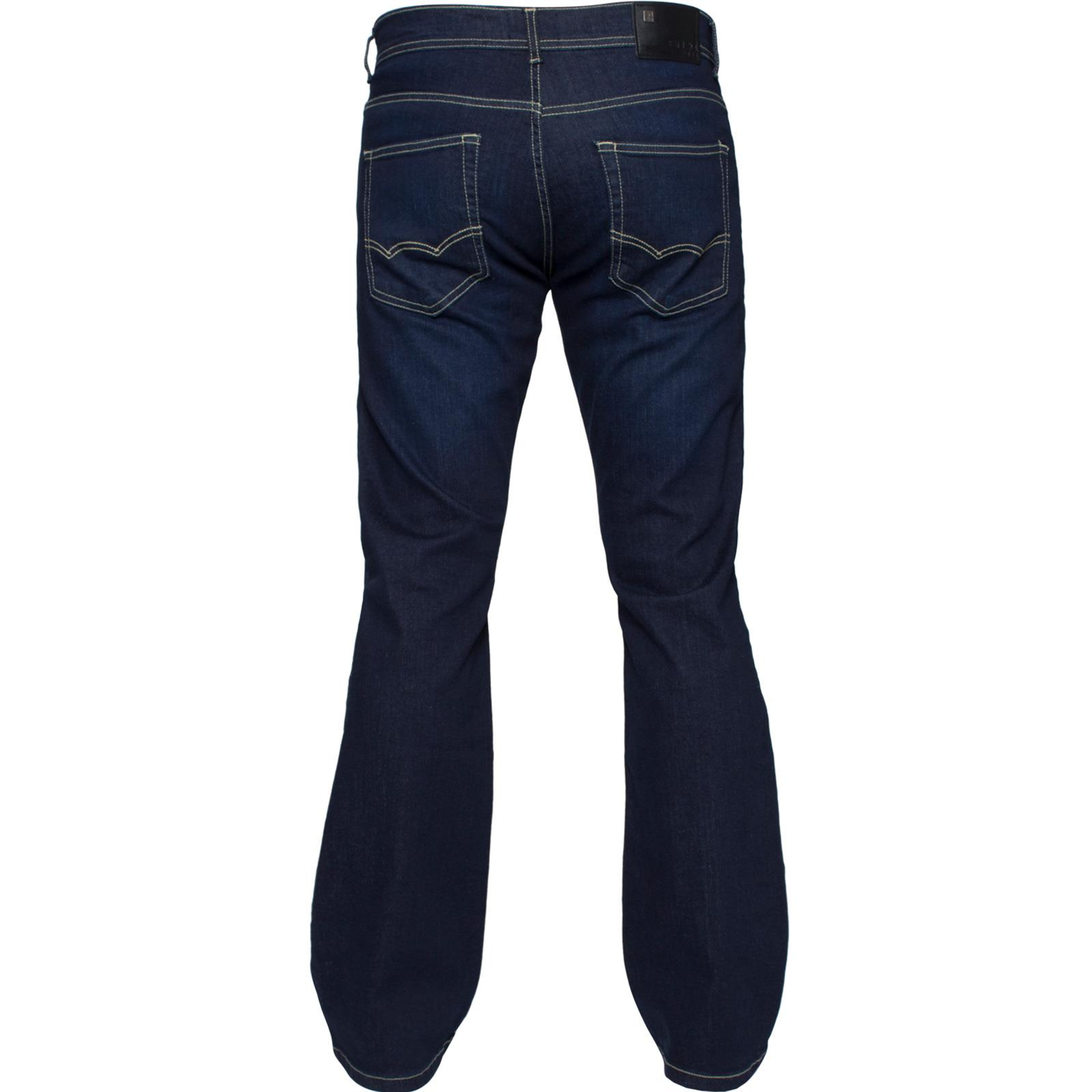 Enzo-Mens-Jeans-Big-Tall-Leg-King-Size-Denim-Pants-Chino-Trousers-Waist-44-034-60-034 miniature 96