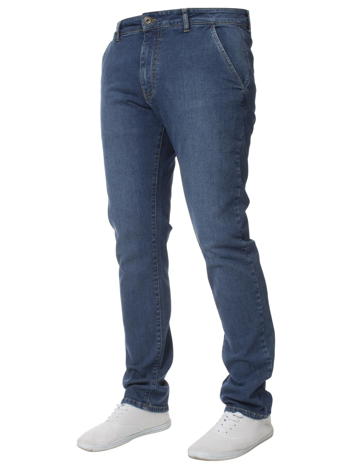 Enzo-Mens-Big-Tall-Jeans-Leg-King-Size-Denim-Pants-Chino-Trousers-Pants-44-034-60-034 thumbnail 34