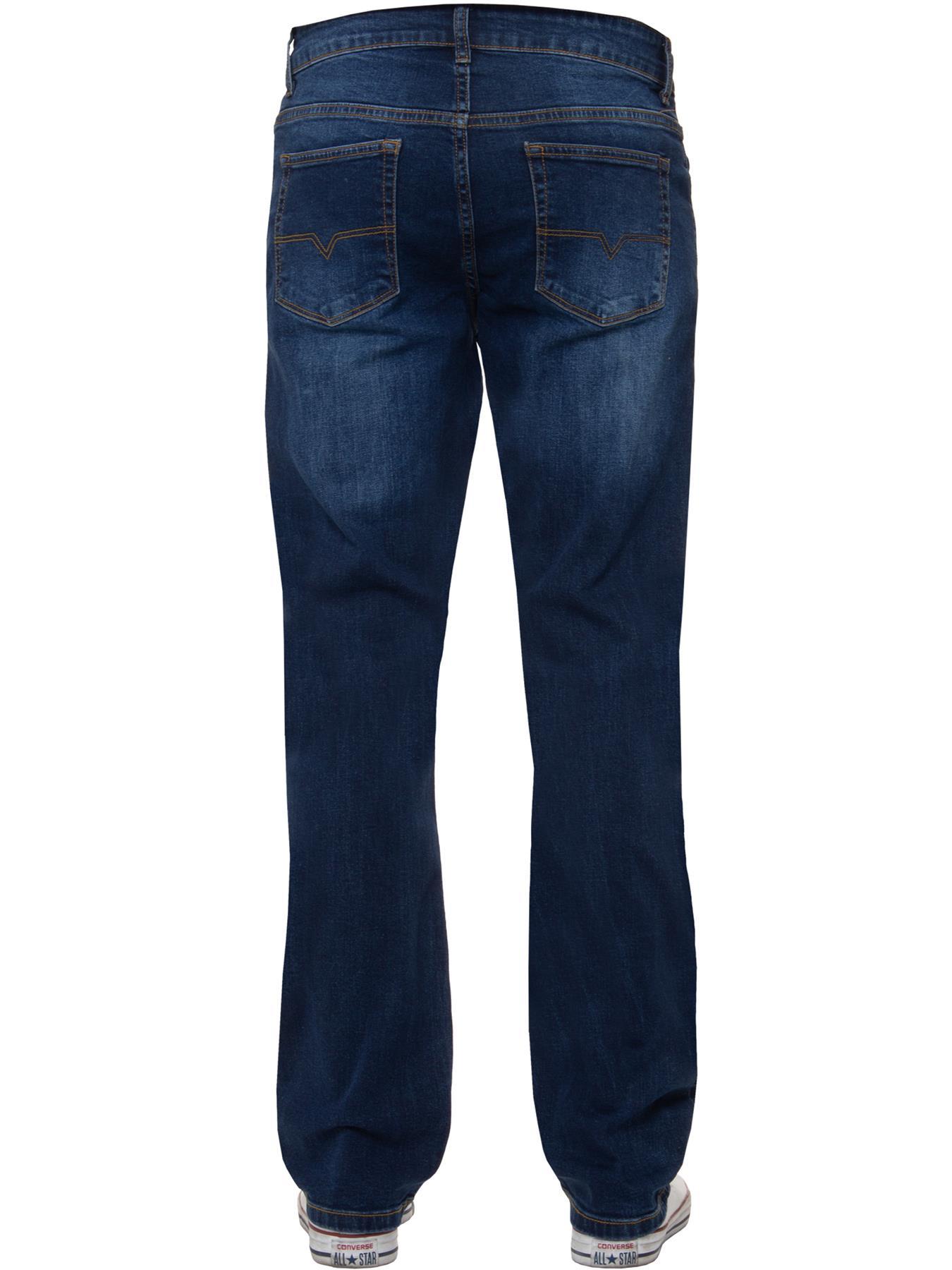Para-Hombre-Pierna-Recta-Bootcut-Stretch-Denim-Regulares-Pantalon-de-trabajo-Kruze-Todas-Cinturas miniatura 46