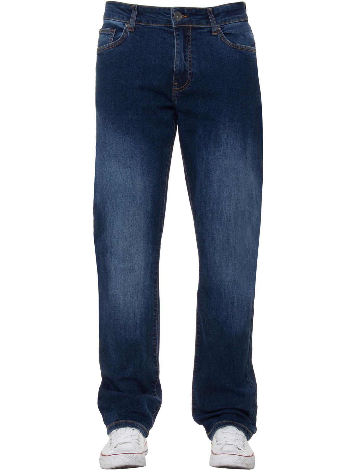 Para-Hombre-Pierna-Recta-Bootcut-Stretch-Denim-Regulares-Pantalon-de-trabajo-Kruze-Todas-Cinturas miniatura 45