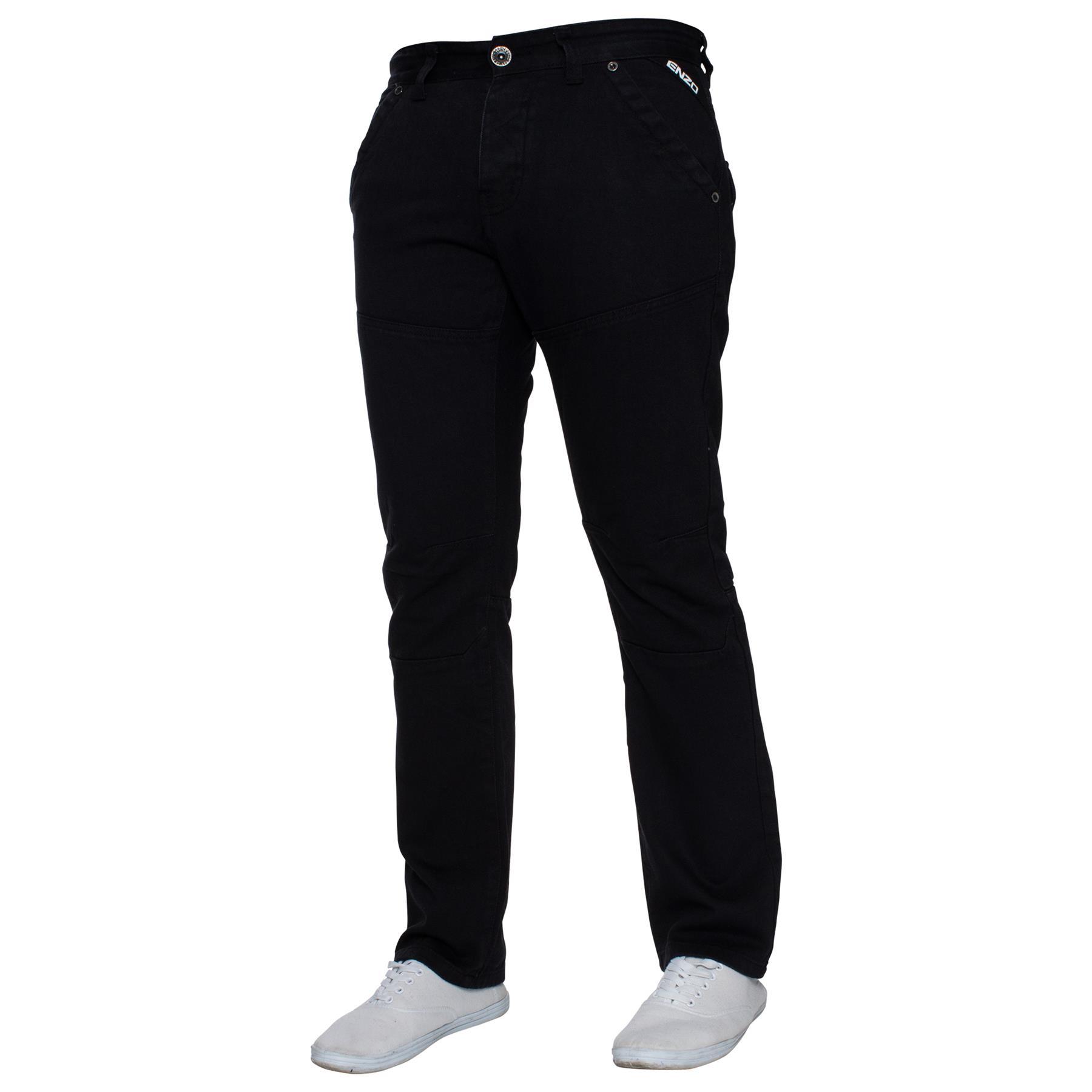 Enzo-Mens-Big-Tall-Jeans-Leg-King-Size-Denim-Pants-Chino-Trousers-Pants-44-034-60-034 thumbnail 51