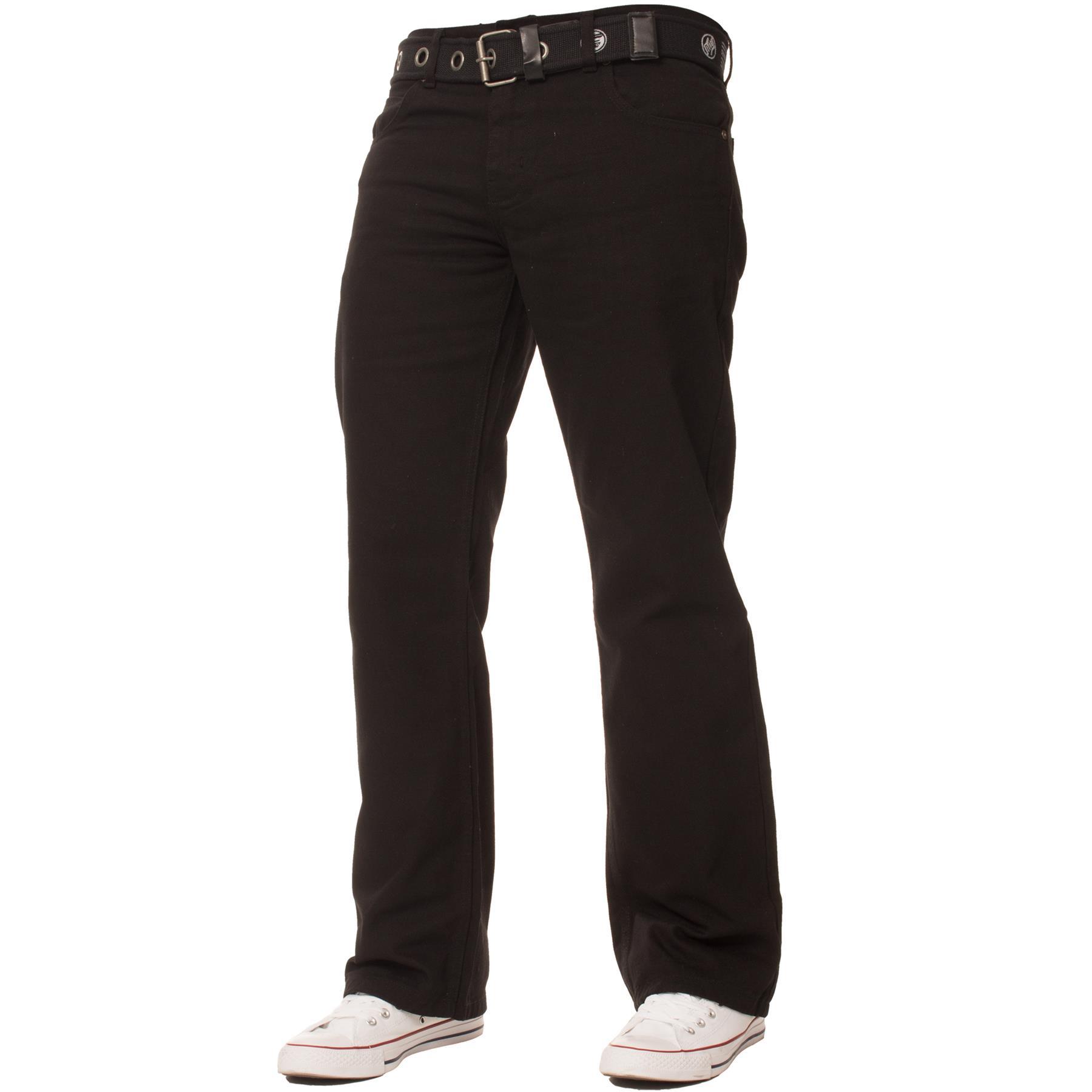 Enzo-Mens-Big-Tall-Jeans-Leg-King-Size-Denim-Pants-Chino-Trousers-Pants-44-034-60-034 thumbnail 42
