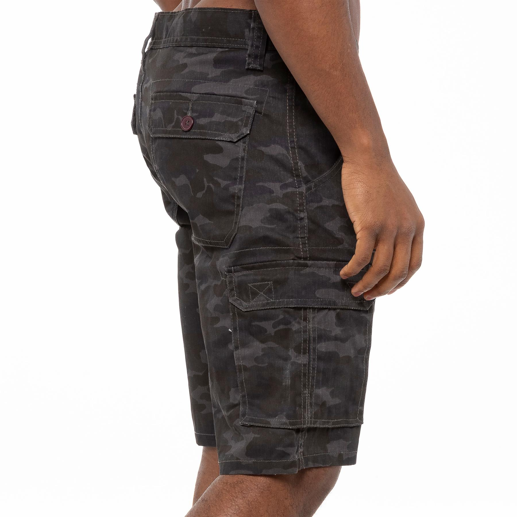thumbnail 19 - Kruze Jeans Mens Army Combat Shorts Camouflage Cargo Casual Camo Work Half Pants