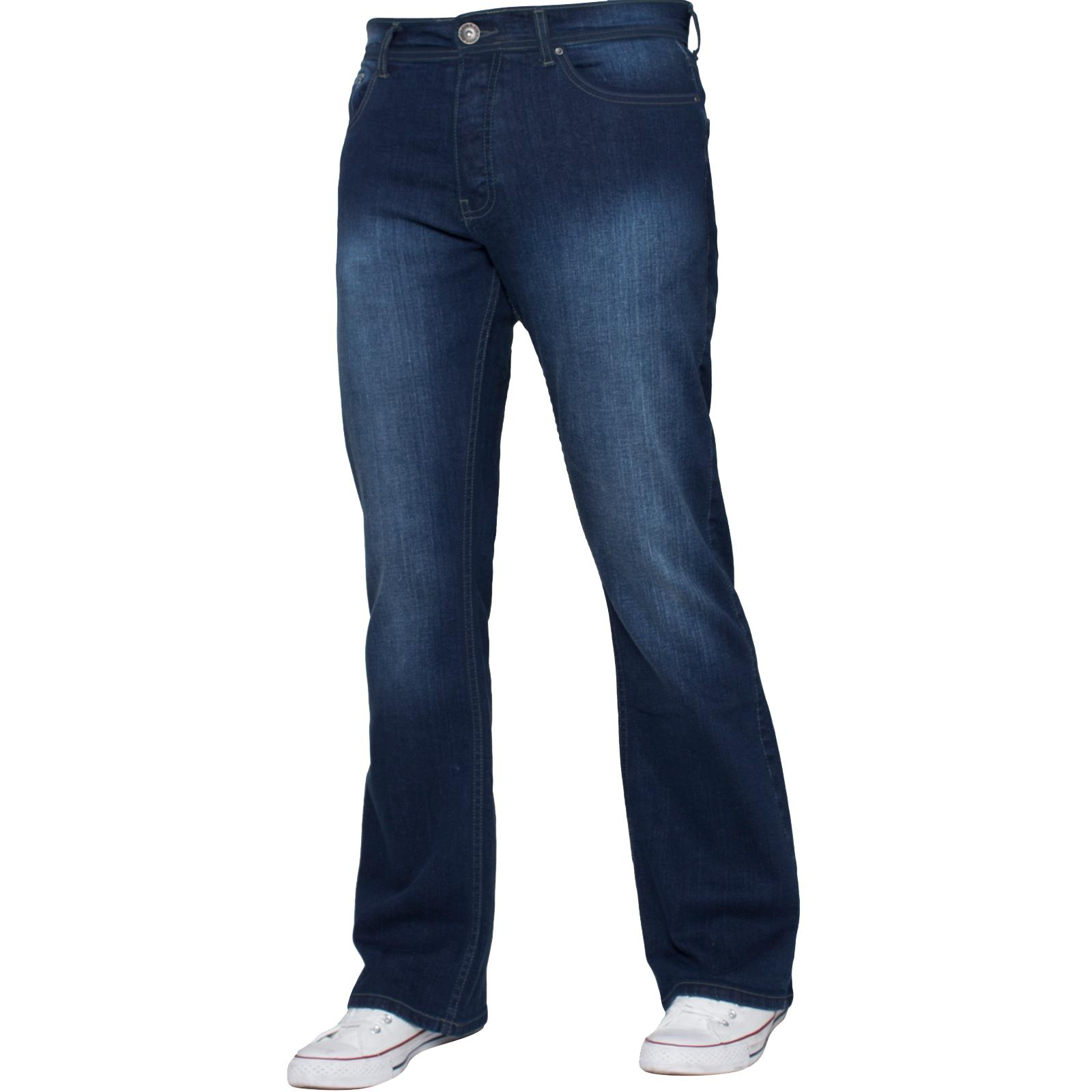 Enzo-Mens-Big-Tall-Jeans-Leg-King-Size-Denim-Pants-Chino-Trousers-Pants-44-034-60-034 thumbnail 113