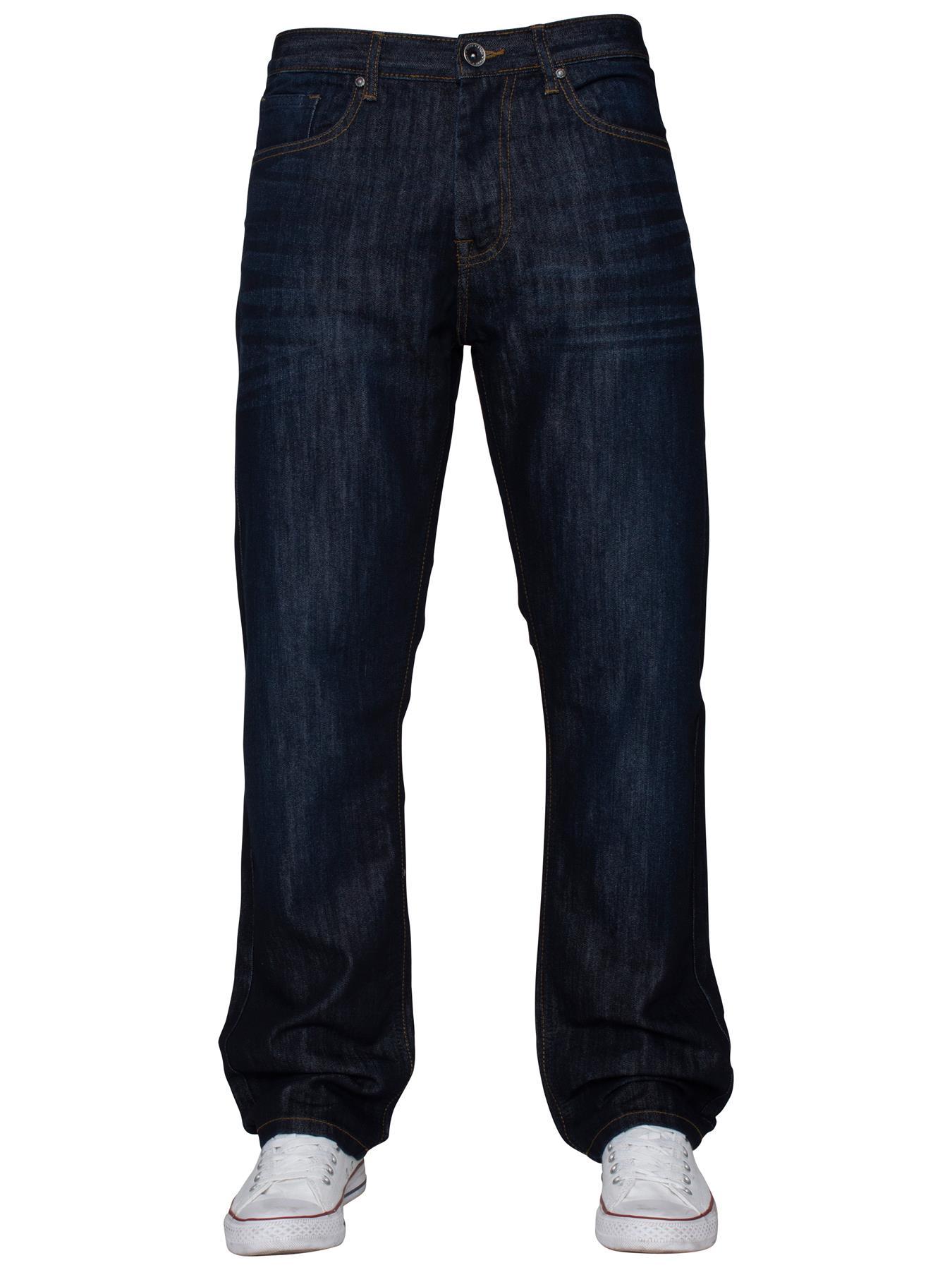 Mens-Regular-Fit-Jeans-Straight-Leg-Denim-Pants-Trousers-Pants-All-Waist-Sizes thumbnail 20