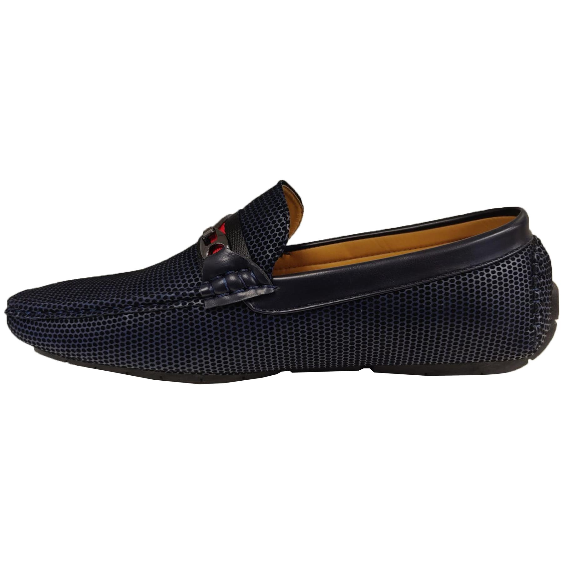 Mens-Slip-Ons-Shoes-Boat-Deck-Driving-Smart-Buckle-Moccasins-Suede-Look-Loafers thumbnail 59