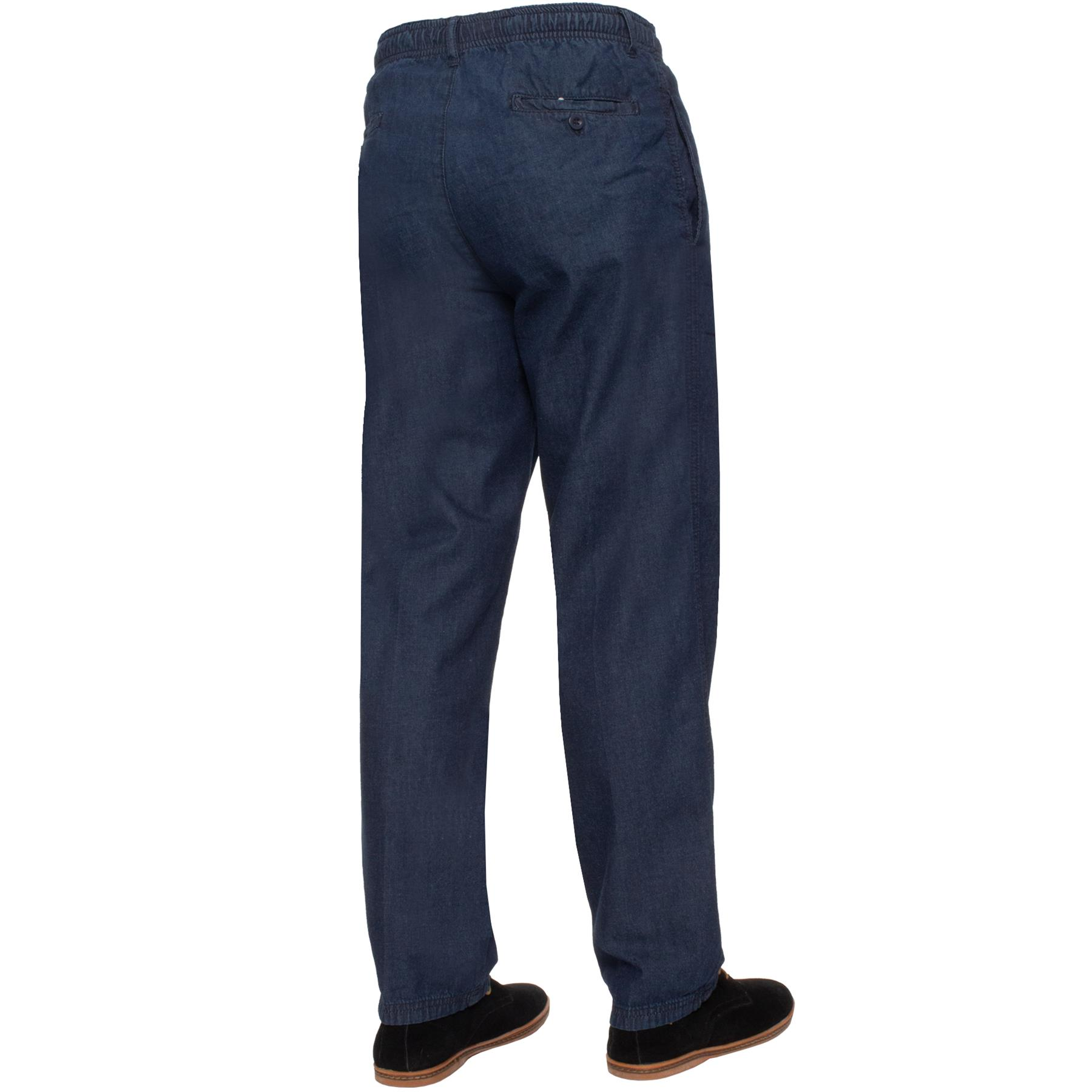 Para-Hombres-Pantalones-De-Rugby-Kruze-cintura-elastica-con-cordon-pantalones-REGULAR-King-Tamanos miniatura 22