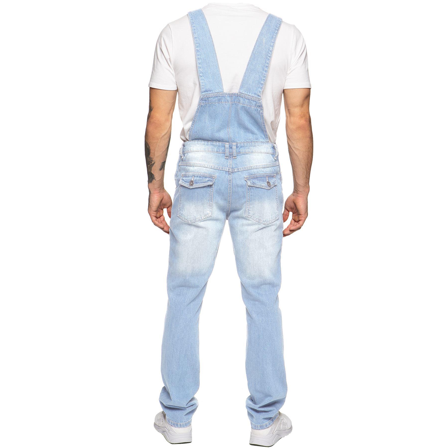 ENZO-Jeans-Hombre-Denim-Azul-Peto-Peto-overoles-Todas-Cinturas-Talla-30-034-50-034 miniatura 11