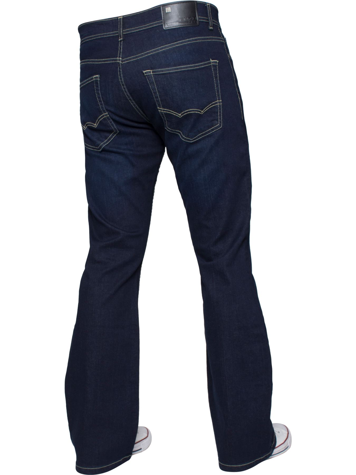 Kruze-Mens-Basic-Straight-Leg-Bootcut-Stretch-Jeans-Denim-Regular-Big-Tall-Waist thumbnail 56