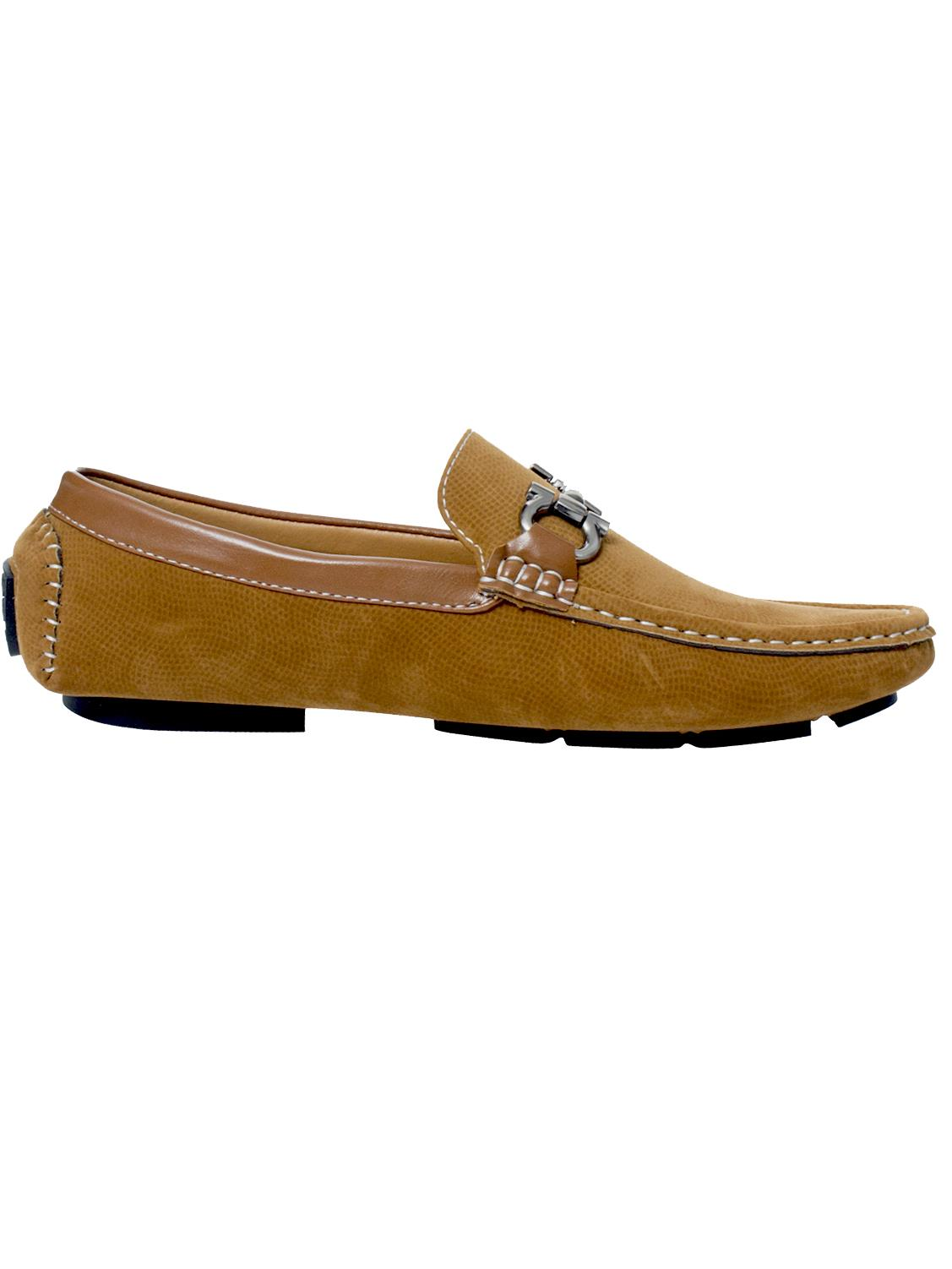 Mens-Slip-Ons-Shoes-Boat-Deck-Driving-Smart-Buckle-Moccasins-Suede-Look-Loafers thumbnail 86
