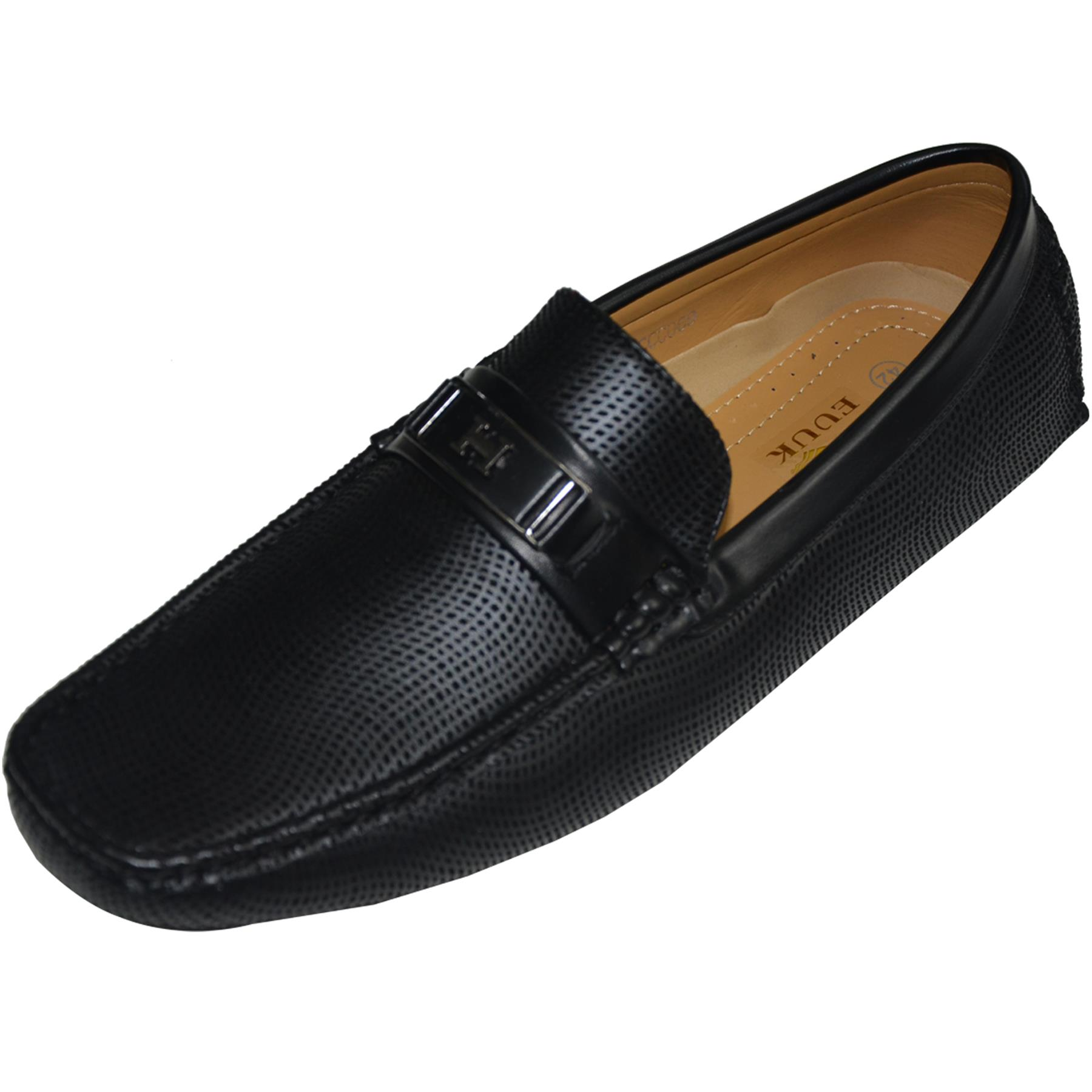 Mens-Slip-Ons-Shoes-Boat-Deck-Driving-Smart-Buckle-Moccasins-Suede-Look-Loafers thumbnail 4