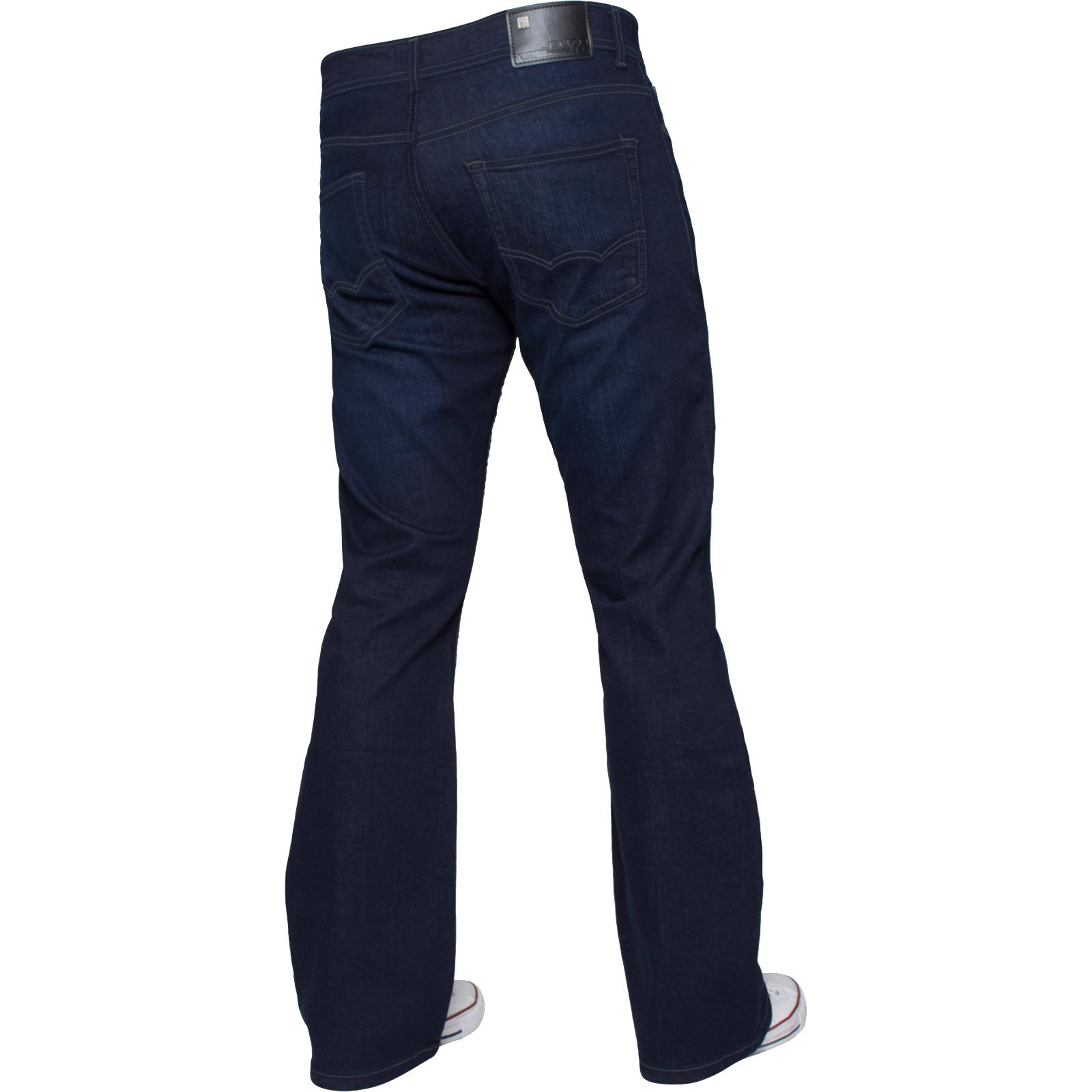 Enzo-Designer-Mens-Bootcut-Flared-Jeans-Stretch-Wide-Leg-Denim-Pants-All-Sizes thumbnail 16