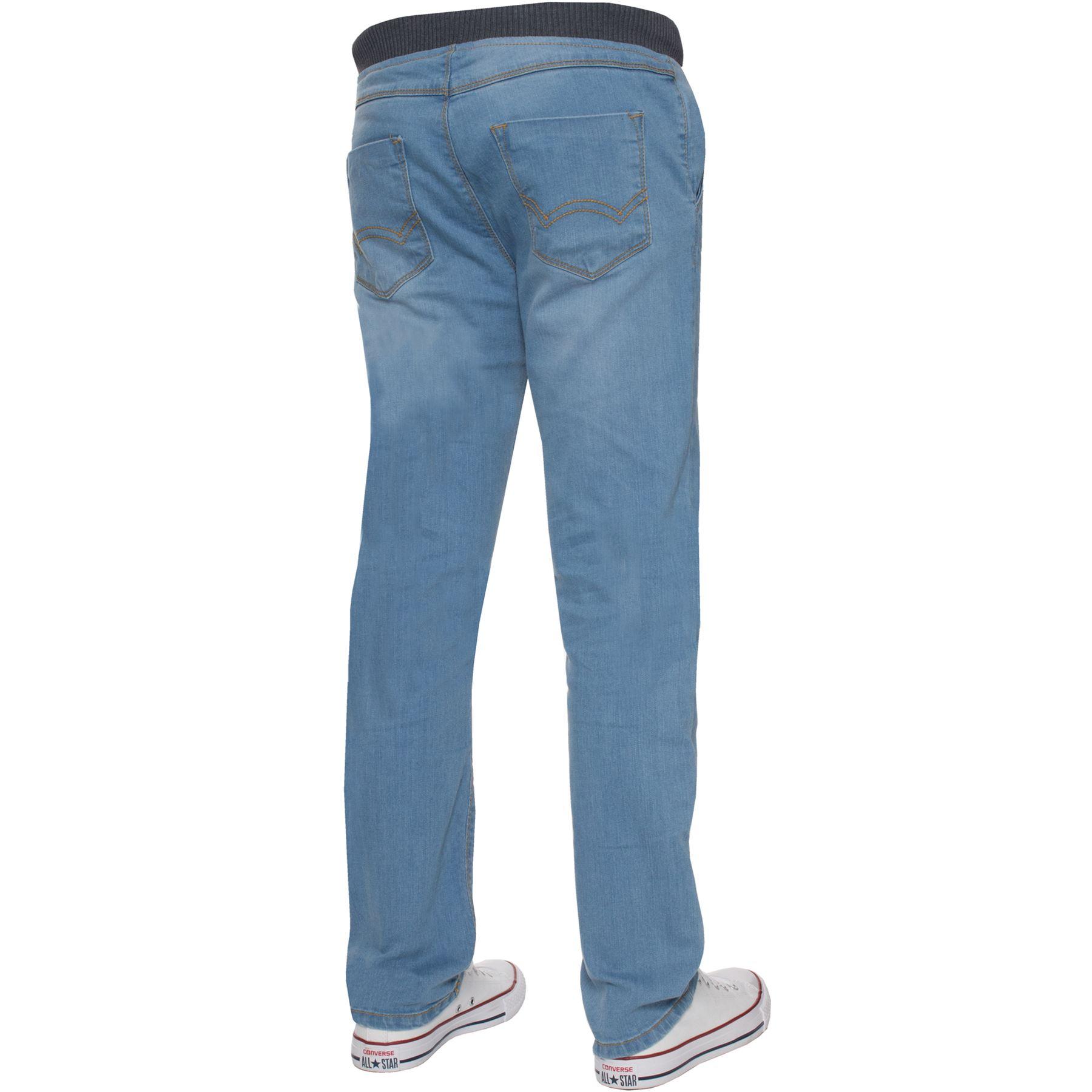 Jean-Garcon-Taille-Elastique-Enfants-Skinny-Stretch-School-Denim-Pantalon-Pantalon miniature 13