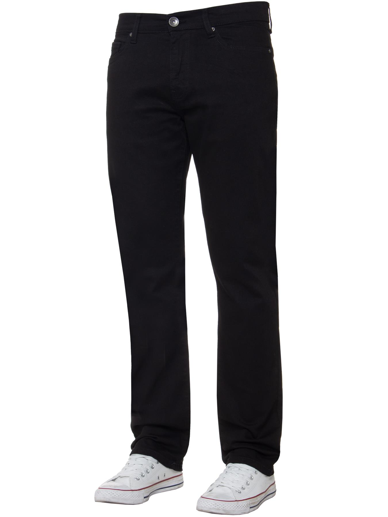 Para-Hombre-Pierna-Recta-Bootcut-Stretch-Denim-Regulares-Pantalon-de-trabajo-Kruze-Todas-Cinturas miniatura 21