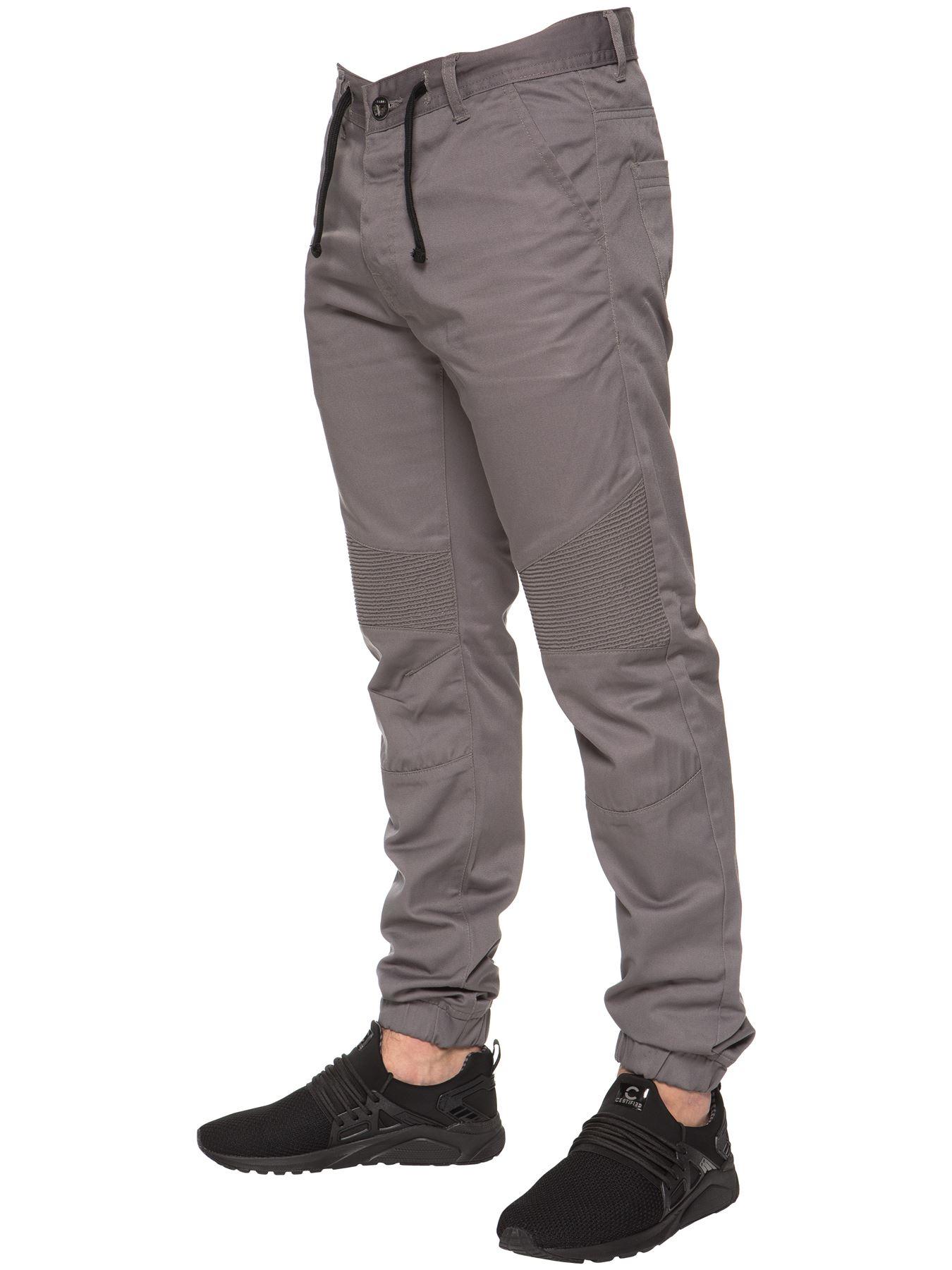 Enzo-Designer-Mens-Cuffed-Chinos-Biker-Jeans-Slim-Denim-Trousers-Pants-Joggers thumbnail 11