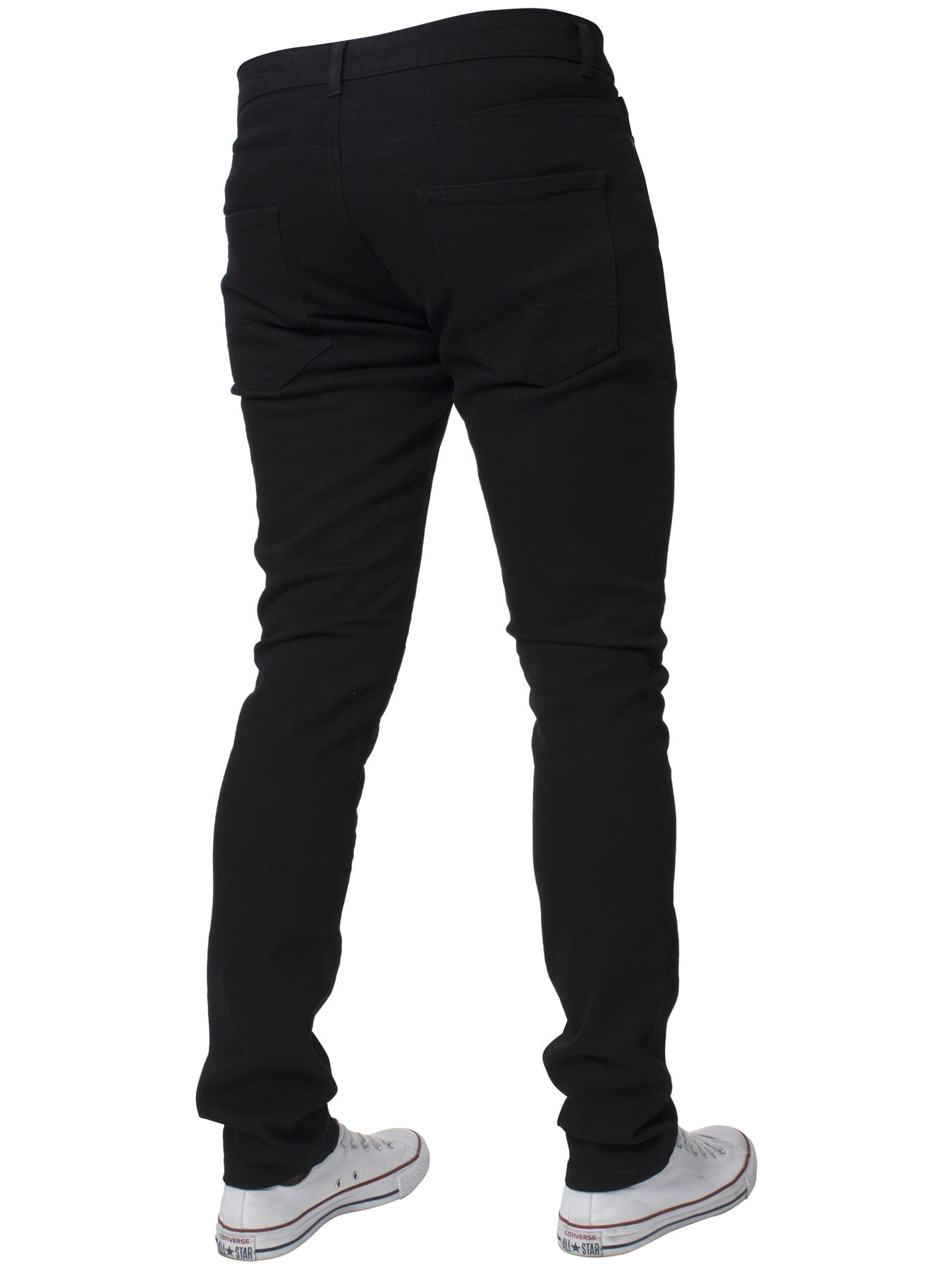 Mens-Skinny-Stretch-Jeans-Slim-Fit-Flex-Denim-Trousers-Pants-King-Sizes-by-Kruze thumbnail 5