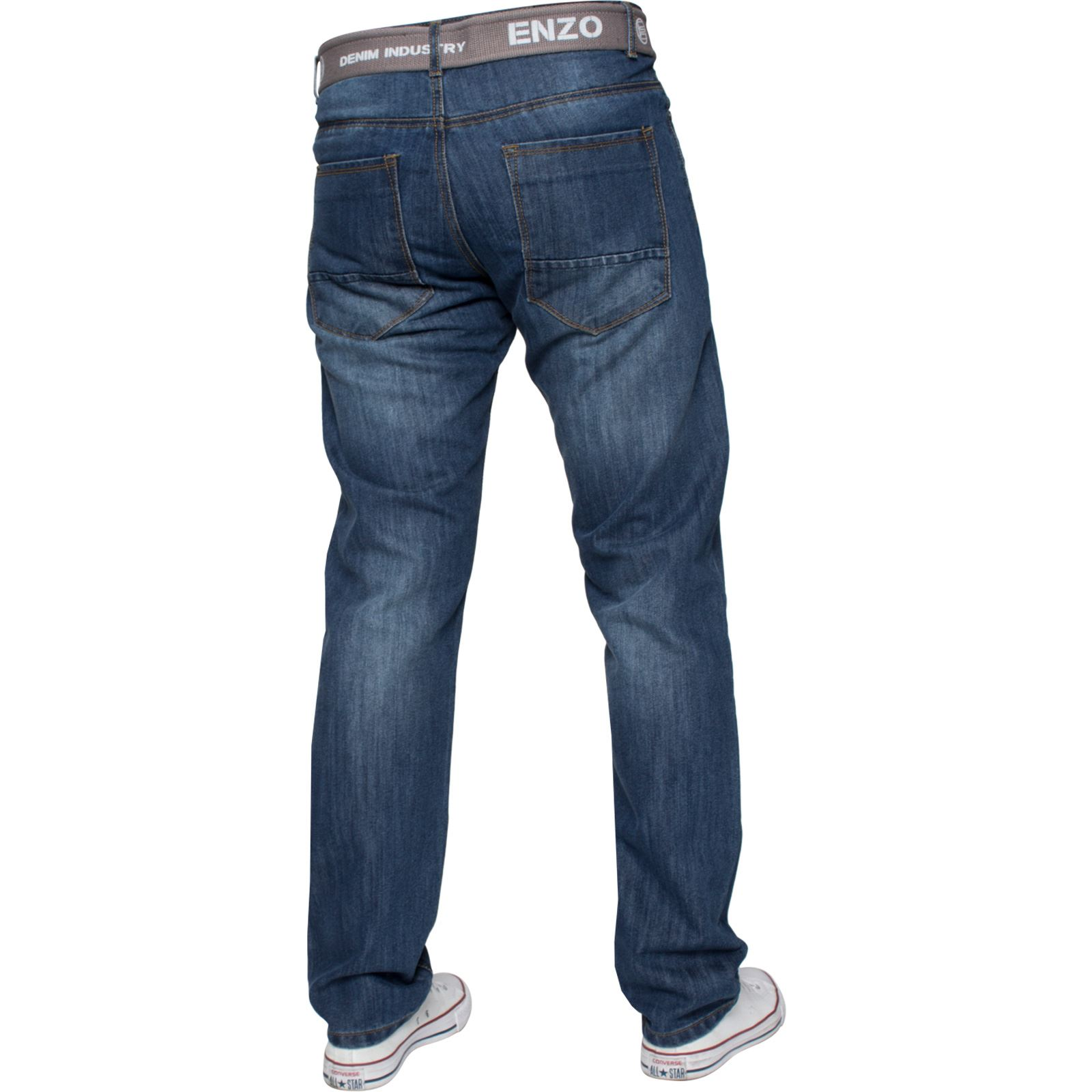 Enzo-Mens-Designer-Jeans-Regular-Fit-Denim-Pants-Big-Tall-All-Waist-Sizes thumbnail 7