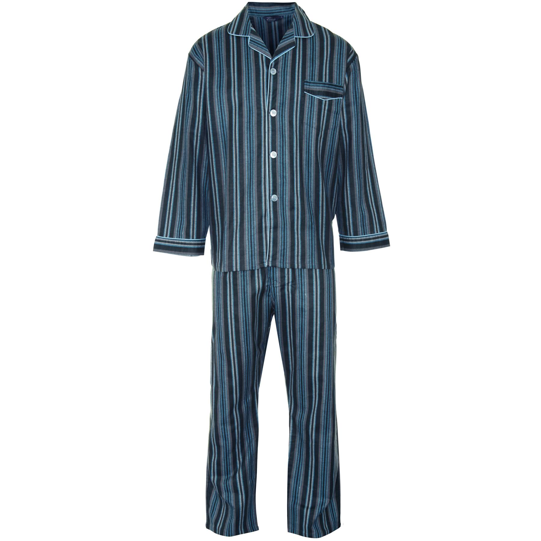 Champion para Hombre Cepillado algod/ón Rayas Pijamas Pijamas Ropa de Dormir.
