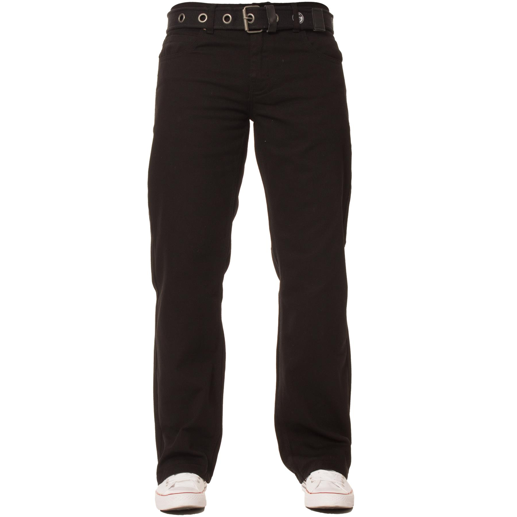 Enzo-Mens-Jeans-Big-Tall-Leg-King-Size-Denim-Pants-Chino-Trousers-Waist-44-034-60-034 miniature 4