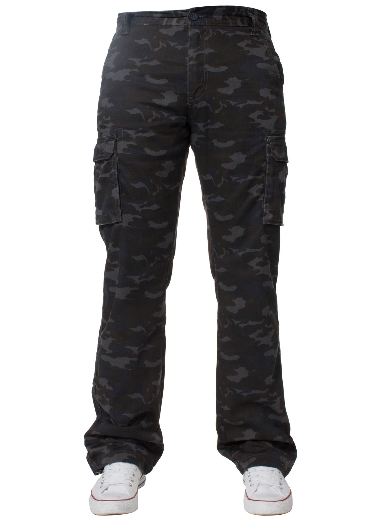 Kruze-Mens-Military-Combat-Trousers-Camouflage-Cargo-Camo-Army-Casual-Work-Pants thumbnail 34