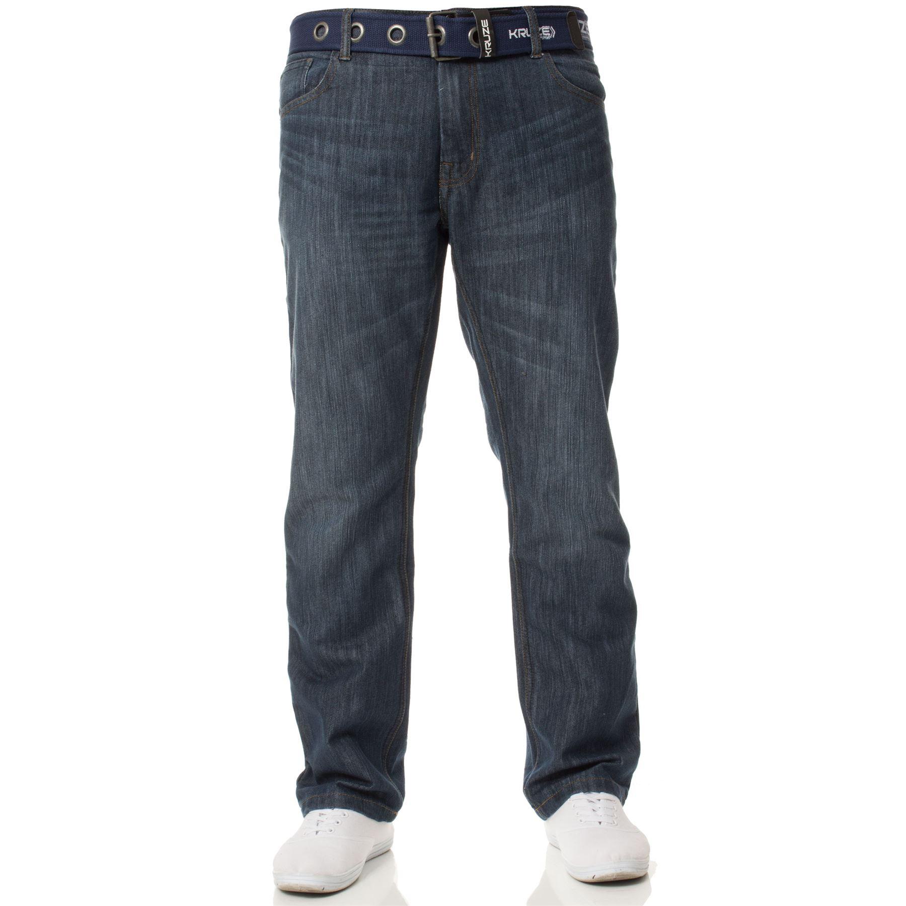New-Kruze-Mens-Jeans-Straight-Leg-Denim-Pants-All-Waist-Legs-Big-Tall-King-Sizes