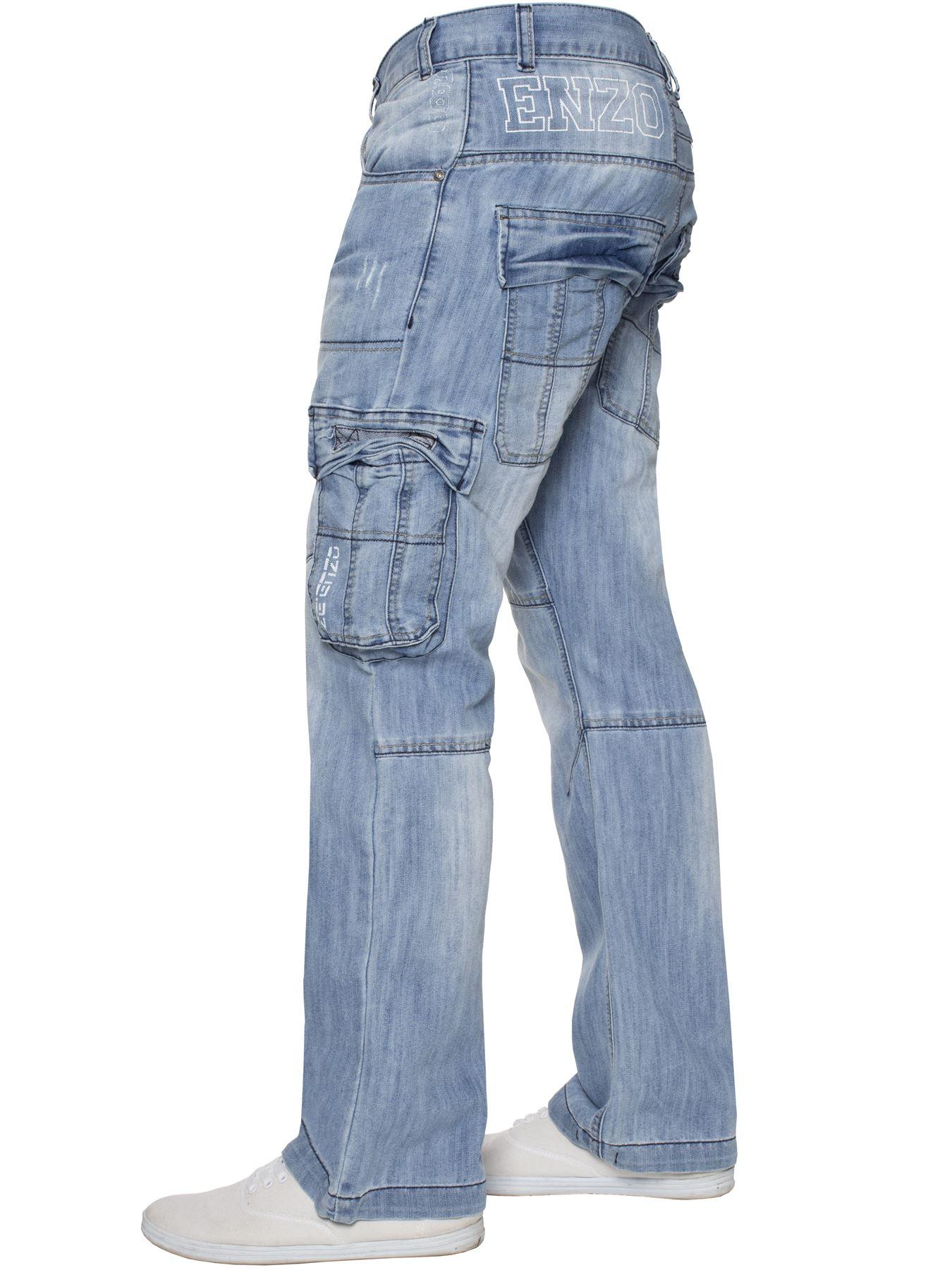Jeans-Para-Hombre-de-carga-de-combate-pesado-Pantalones-de-trabajo-pantalones-de-mezclilla-Big-King miniatura 49