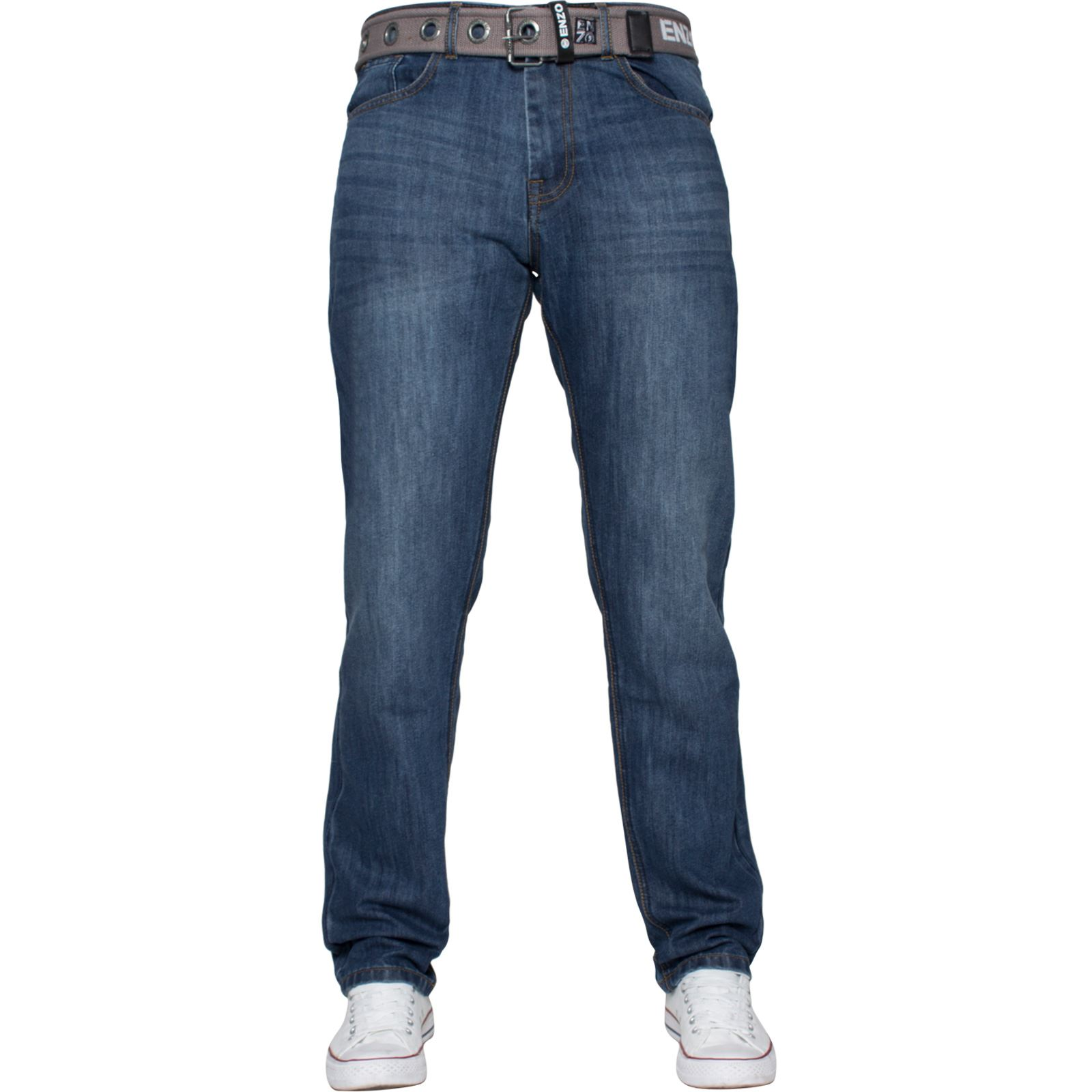 Enzo-Mens-Designer-Jeans-Regular-Fit-Denim-Pants-Big-Tall-All-Waist-Sizes thumbnail 9