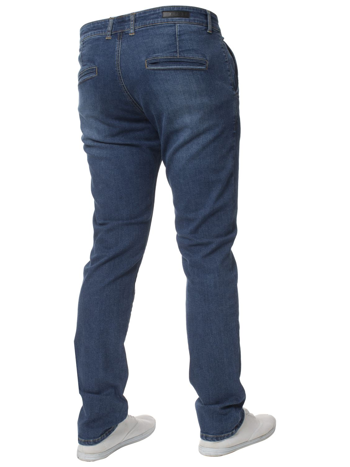 New-Mens-Enzo-Jeans-Denim-Chinos-Skinny-Slim-Fit-Super-Stretch-Trousers-Pants thumbnail 4