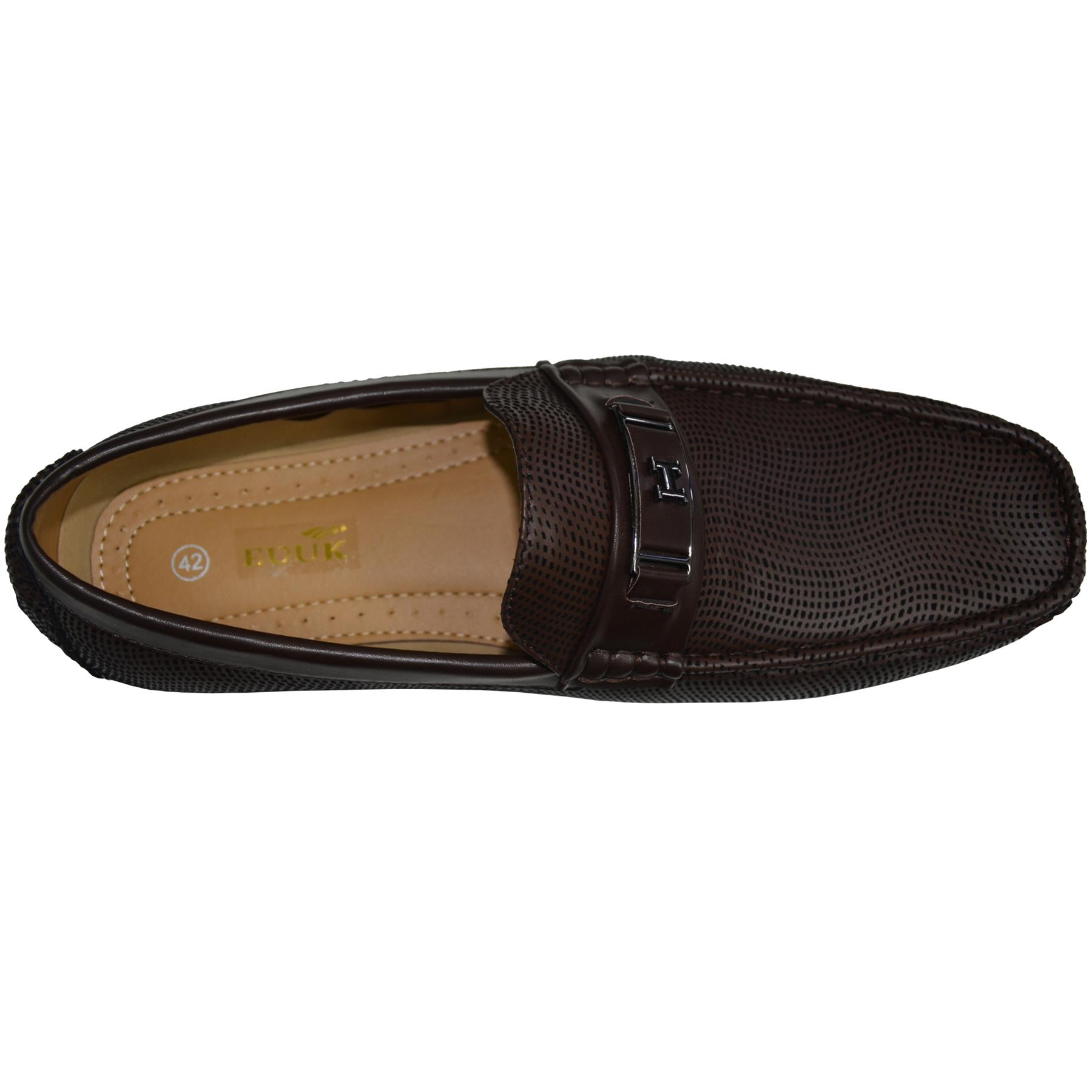 Mens-Slip-Ons-Shoes-Boat-Deck-Driving-Smart-Buckle-Moccasins-Suede-Look-Loafers thumbnail 18