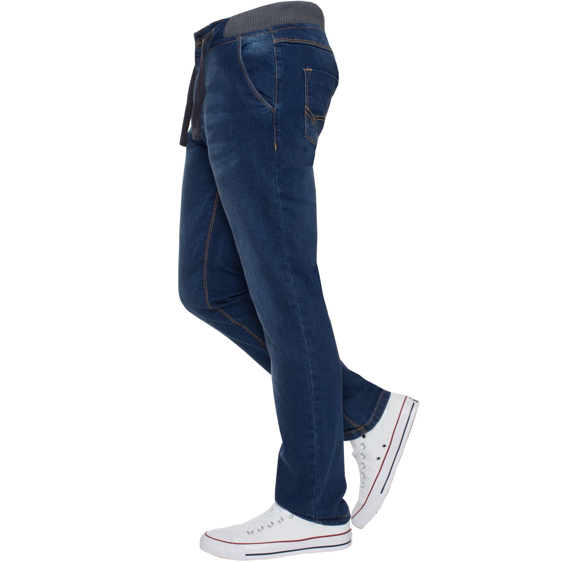 Jean-Garcon-Taille-Elastique-Enfants-Skinny-Stretch-School-Denim-Pantalon-Pantalon miniature 9