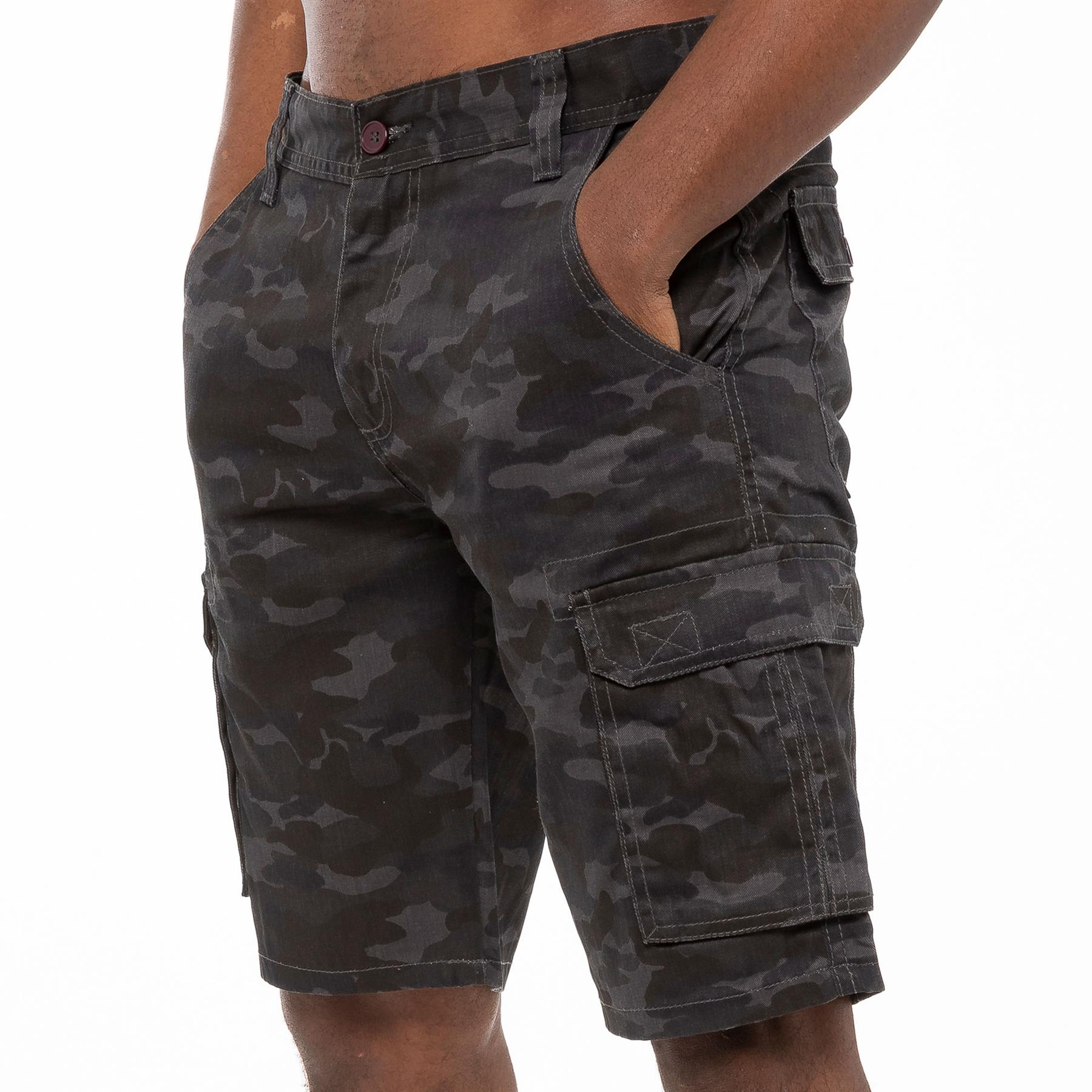 thumbnail 20 - Kruze Jeans Mens Army Combat Shorts Camouflage Cargo Casual Camo Work Half Pants